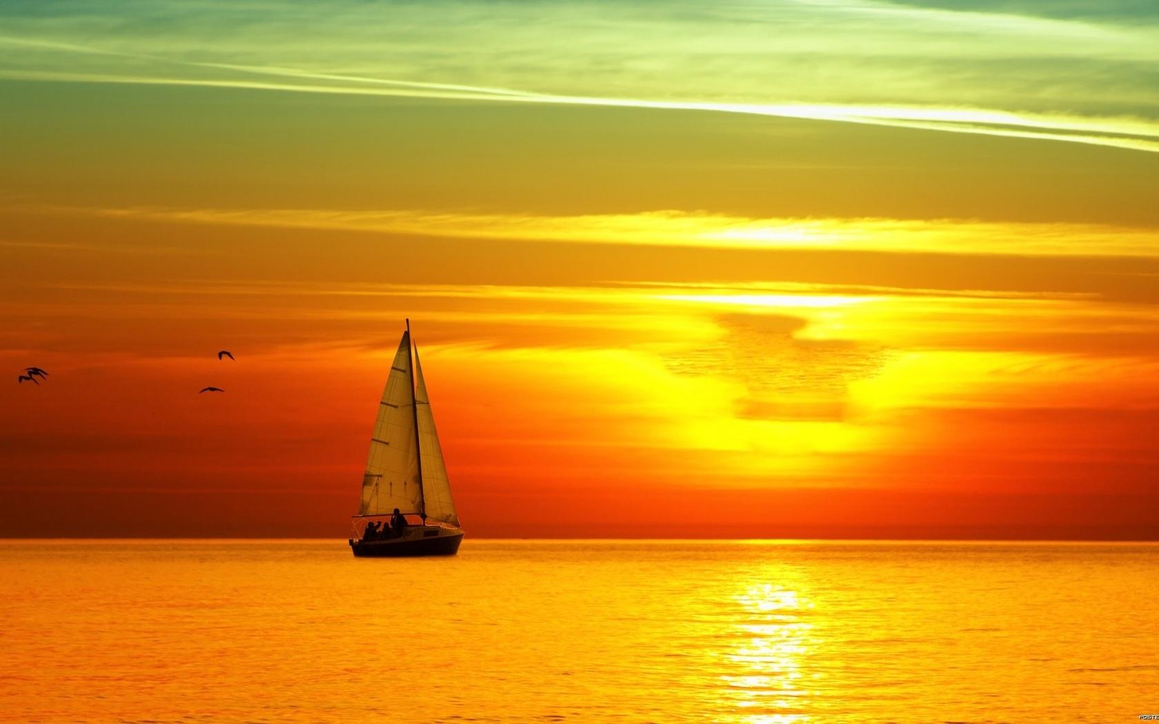 Красивые картинки с морем и закатом