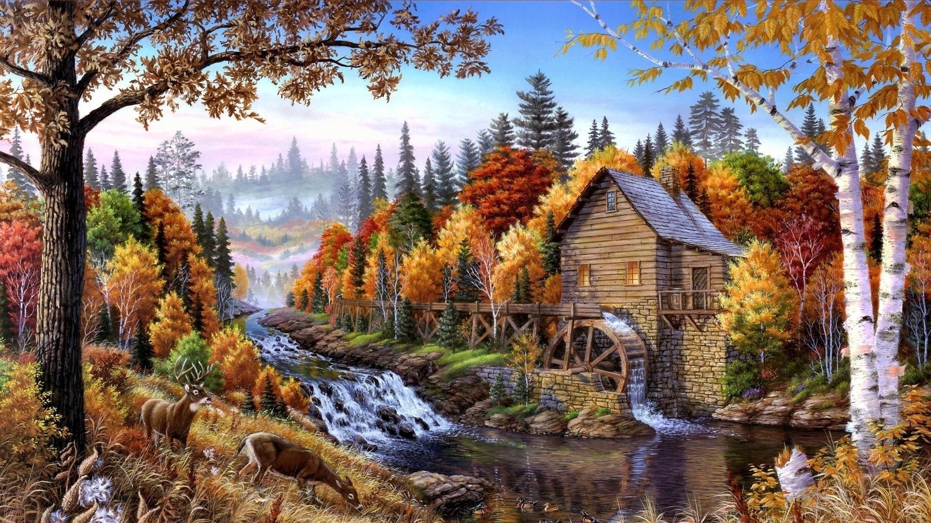 Осень в лесу открытки, именами