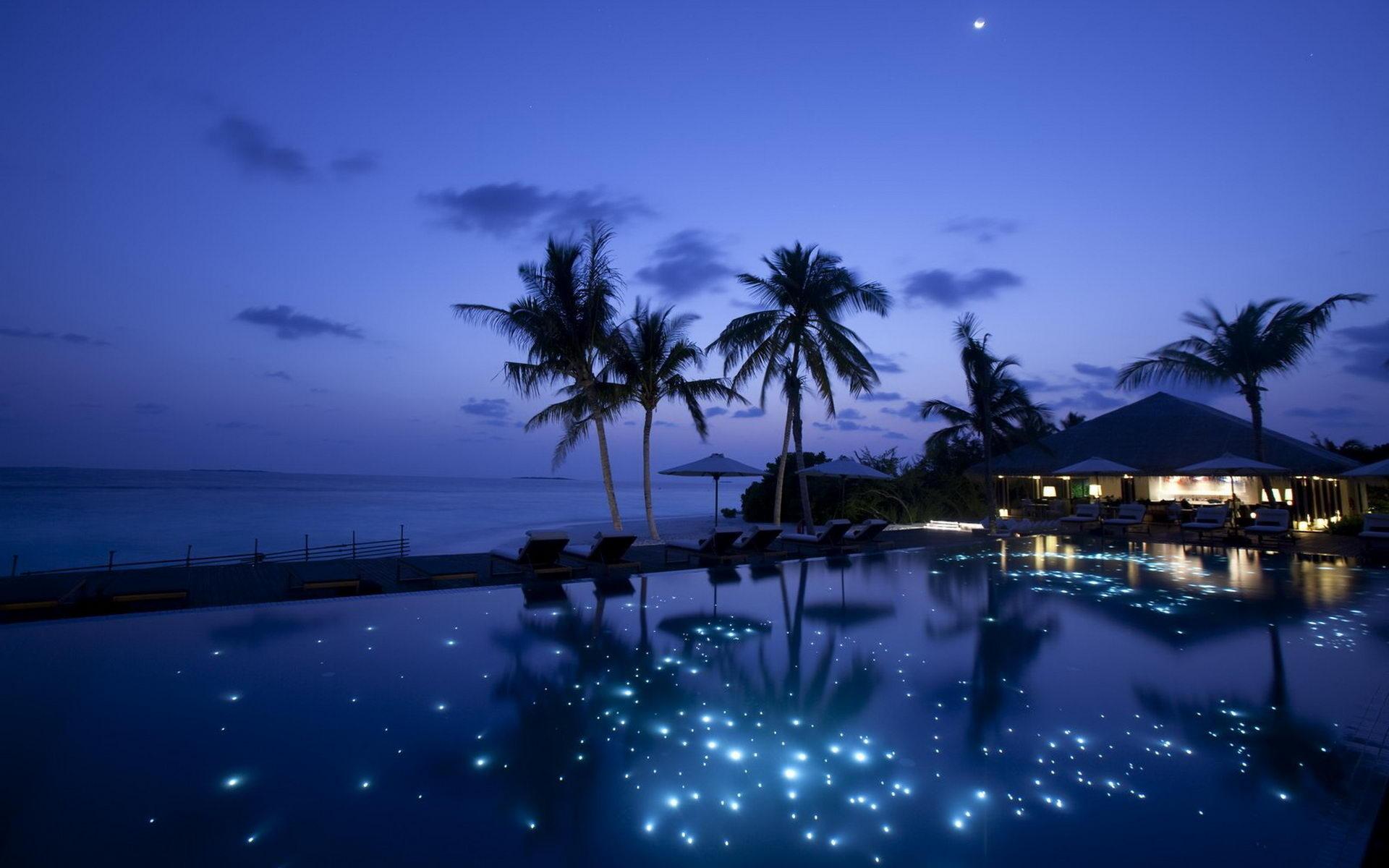 картинки море пляж ночь любимой