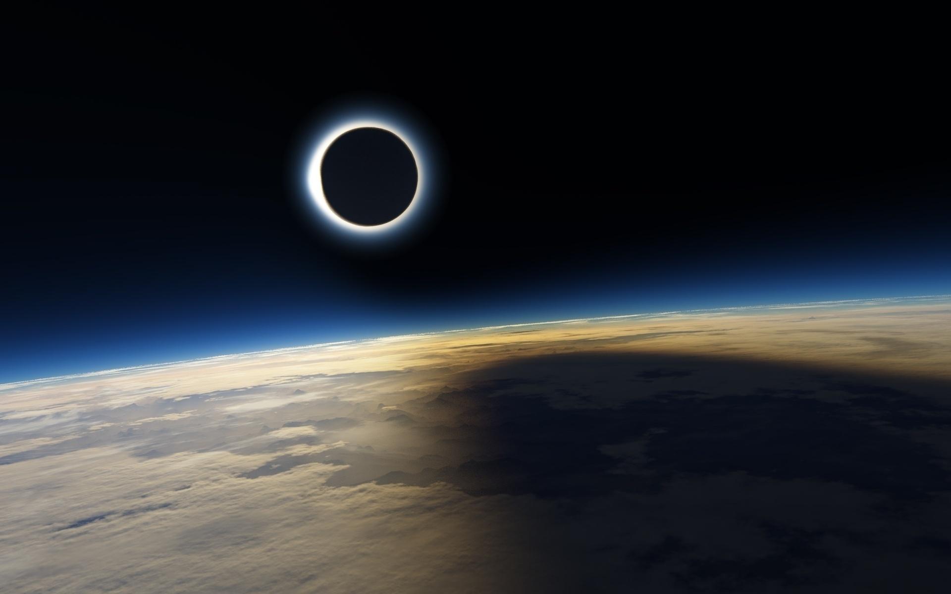Картинки солнца и луны в космосе