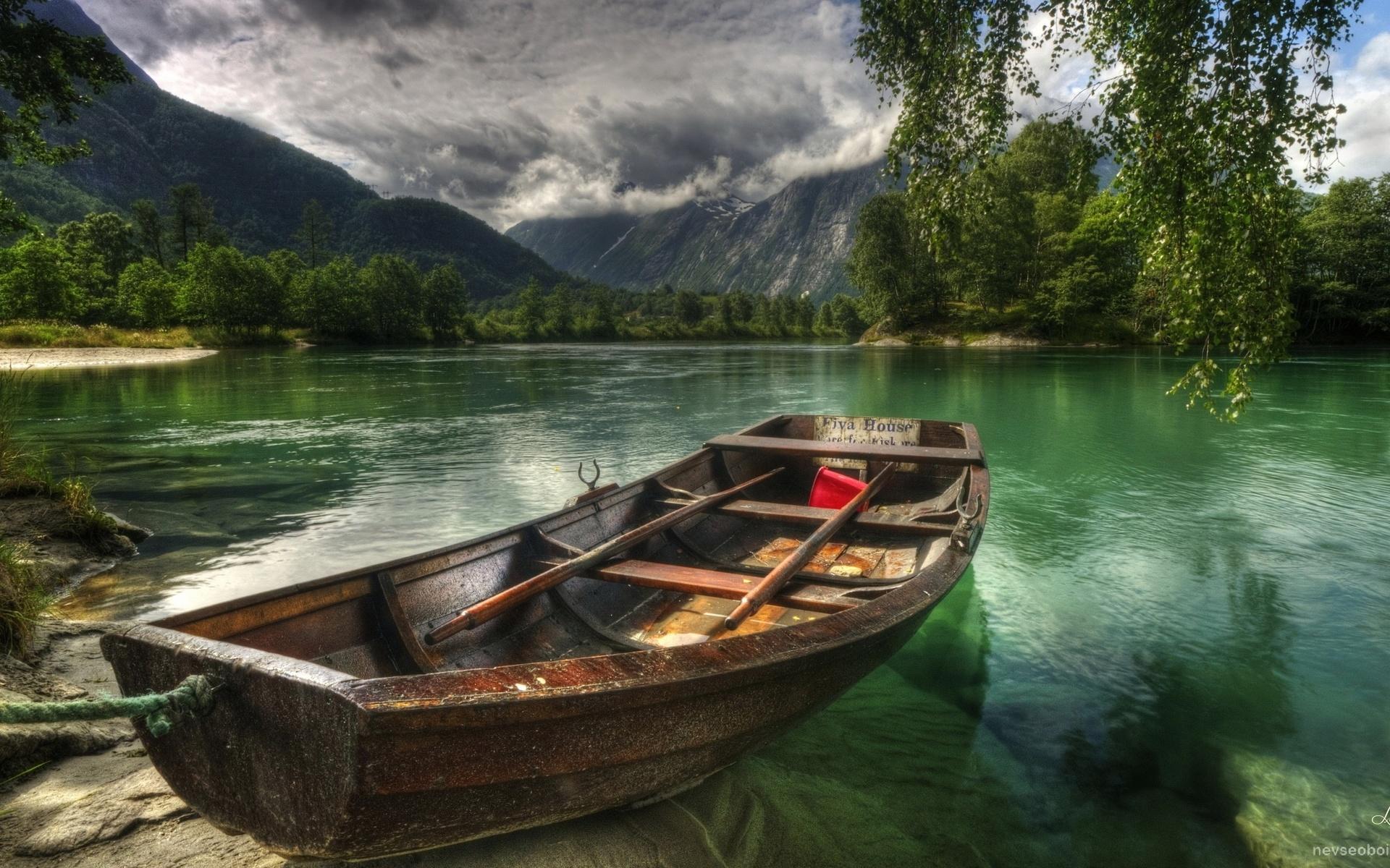 Картинки лодка и река