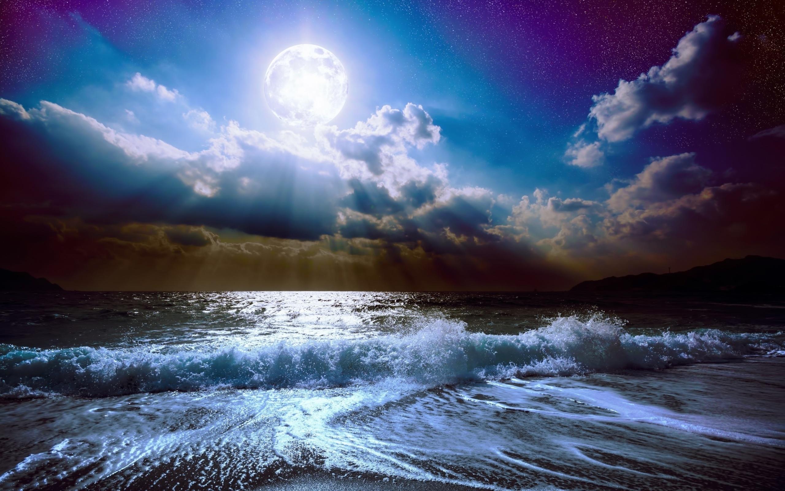 Картинки ночного моря и неба