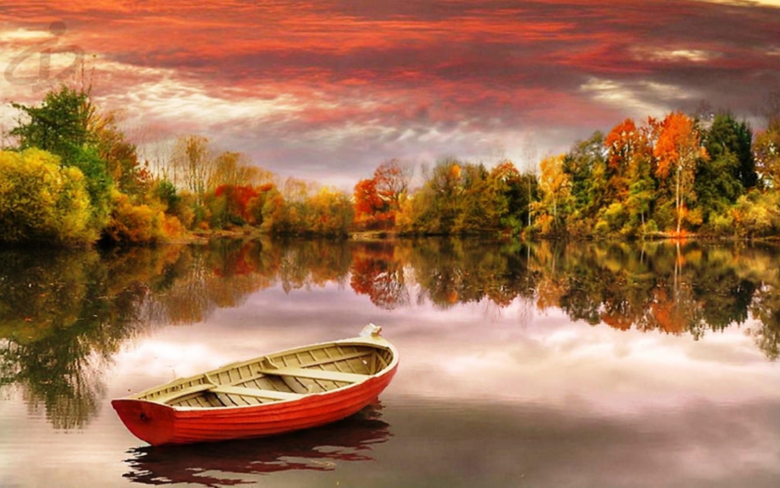 лодки осень картинки это