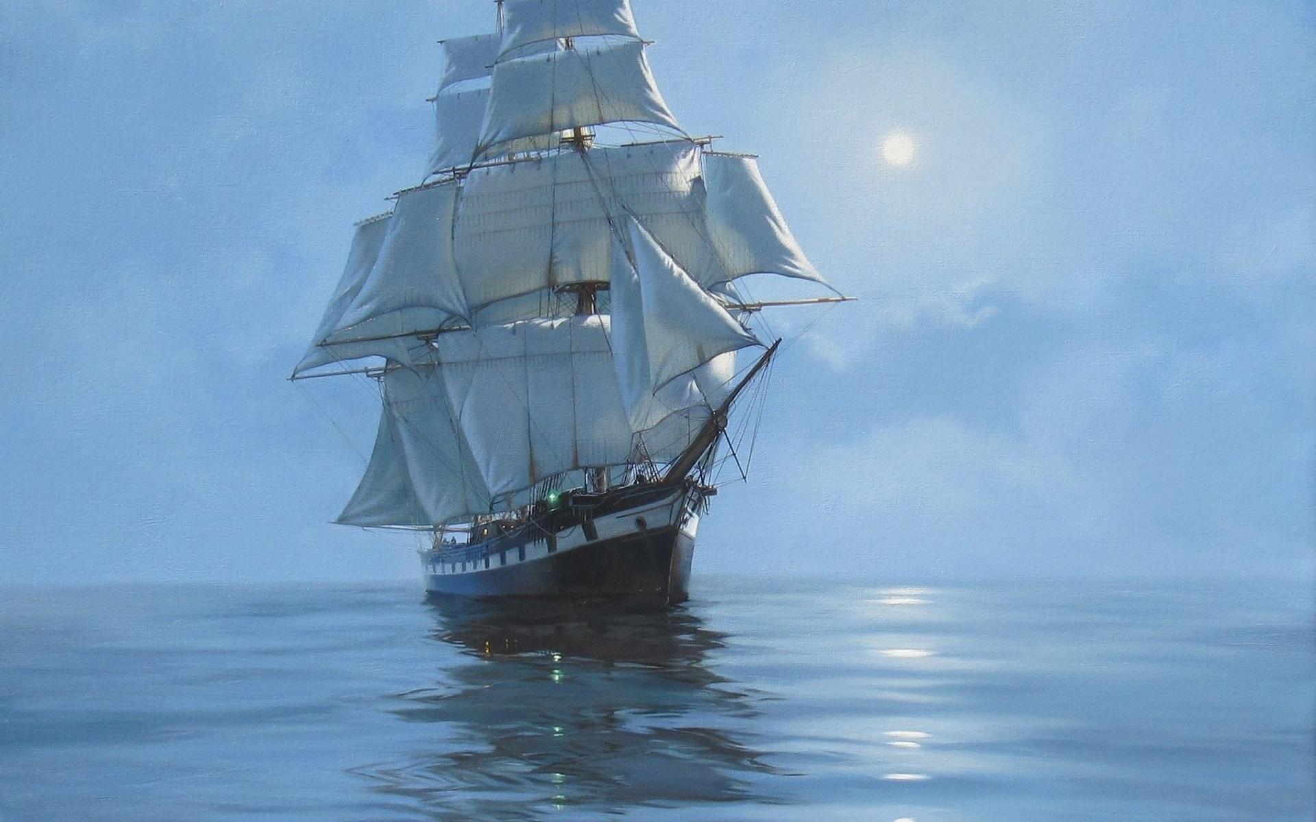 Картинки парусных кораблей в море