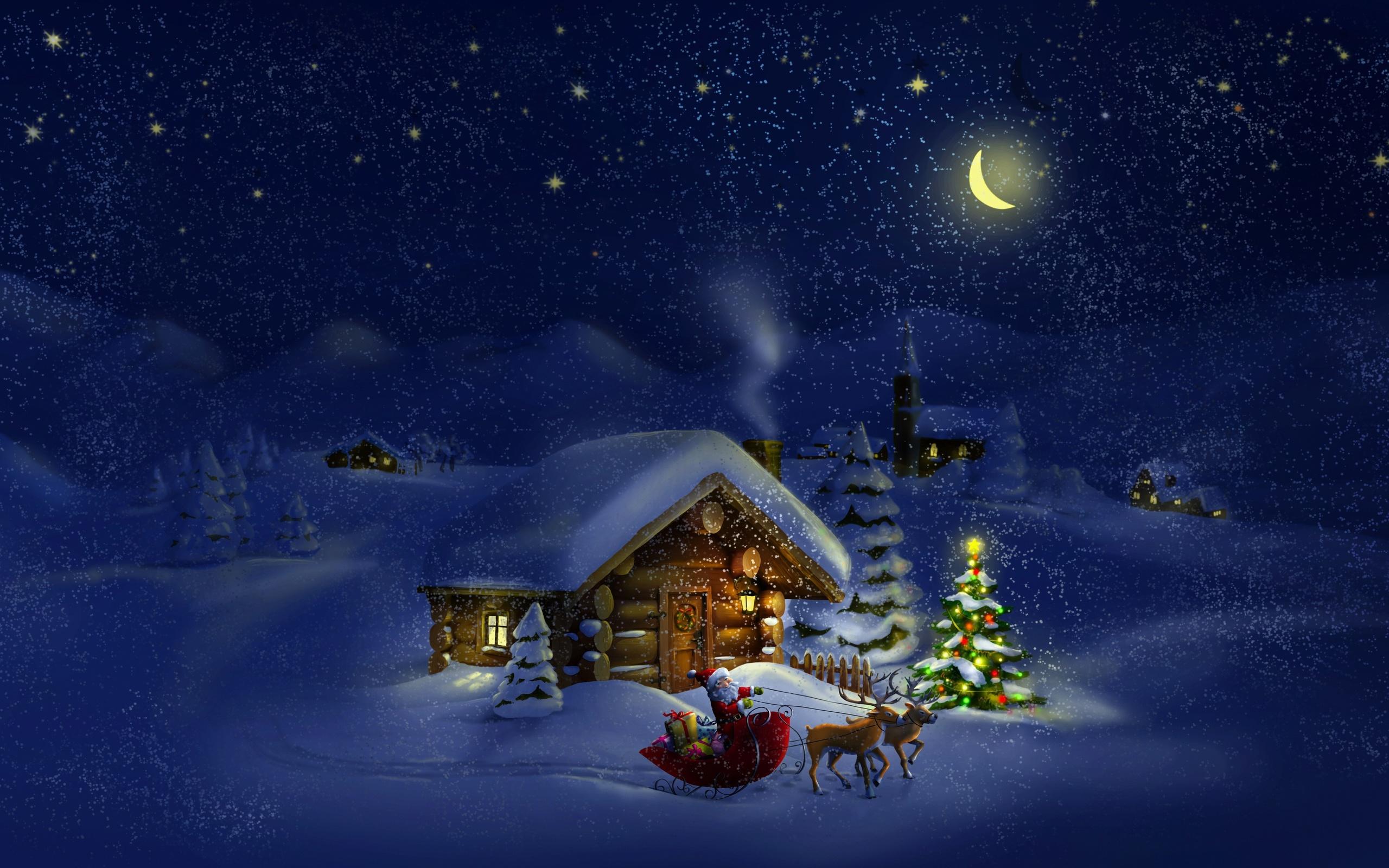 сказочные картинки про новый год или