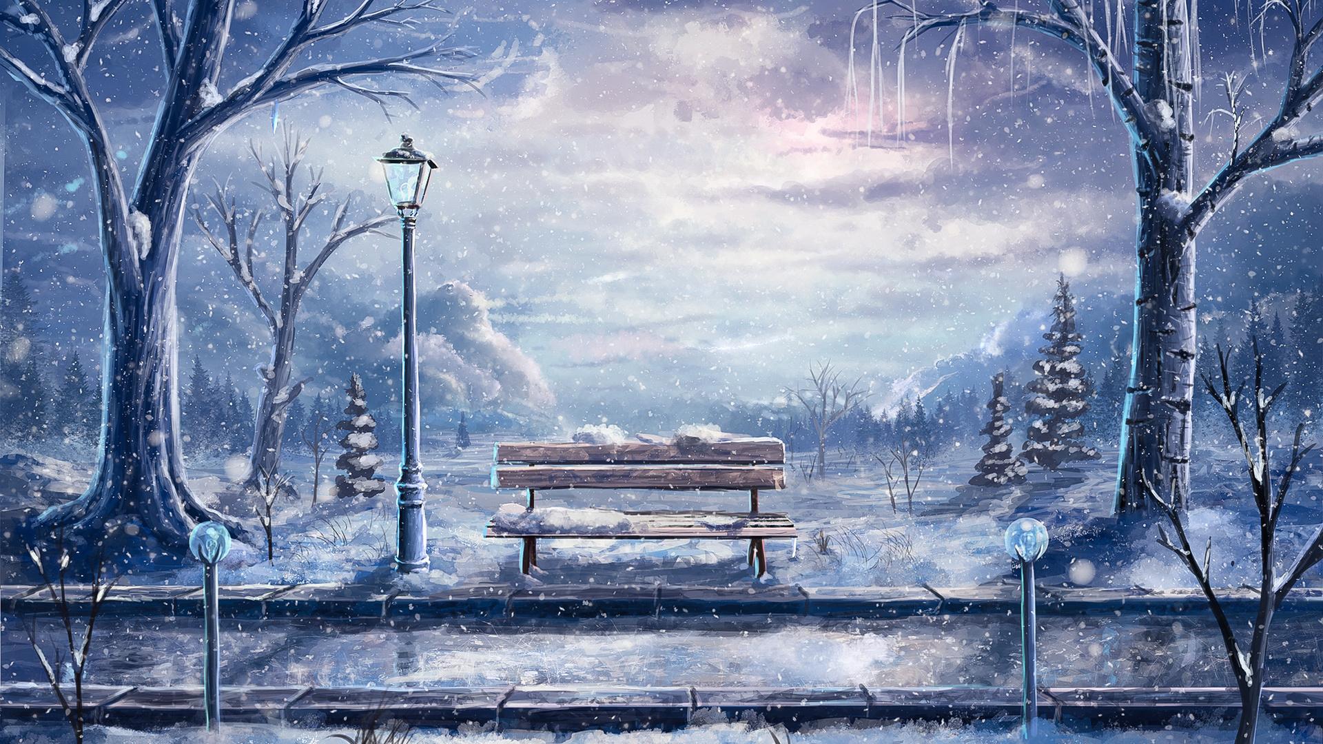 ничего картинки зима красивые рисунки асимметрия