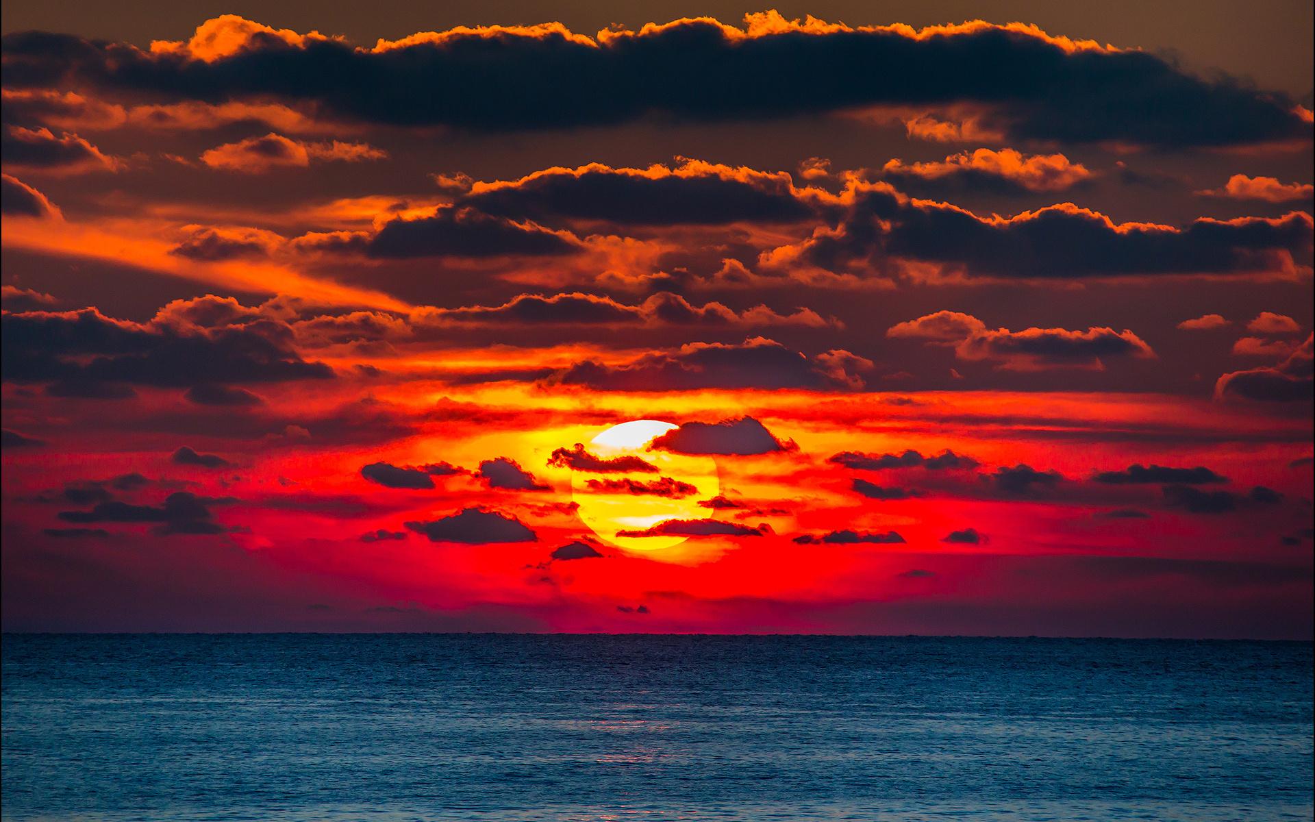 картинки оранжевое небо оранжевое море видео