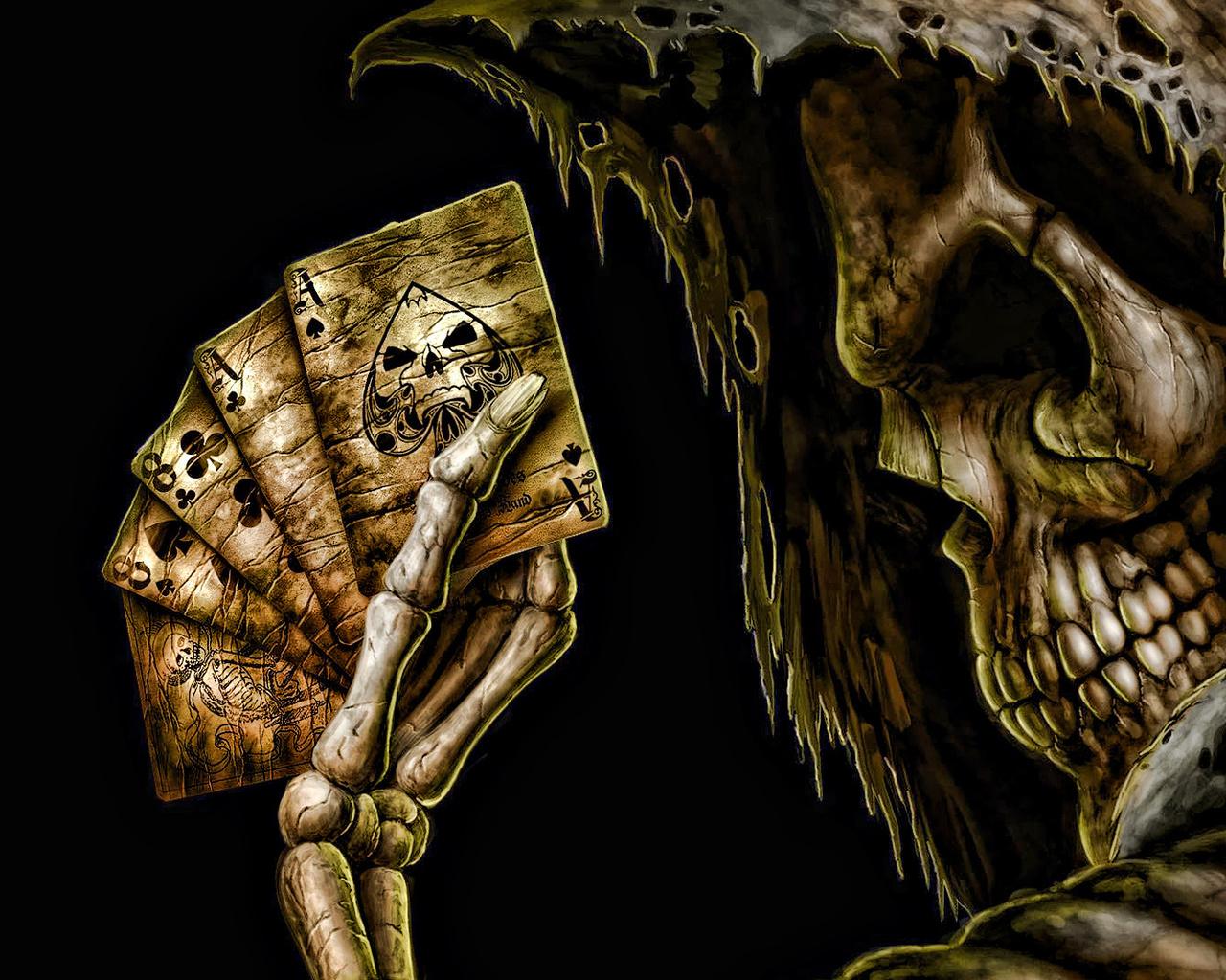 Скелет с картой картинка