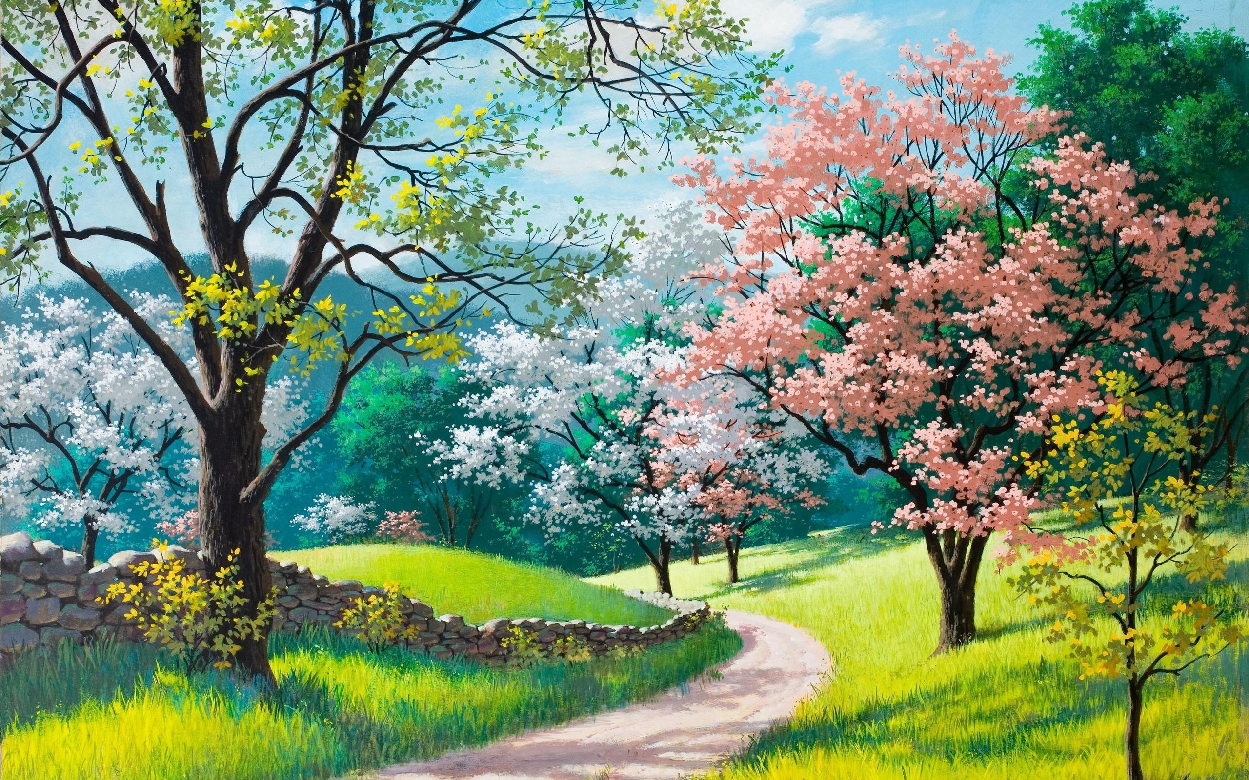 Своими руками, открытки природы весны