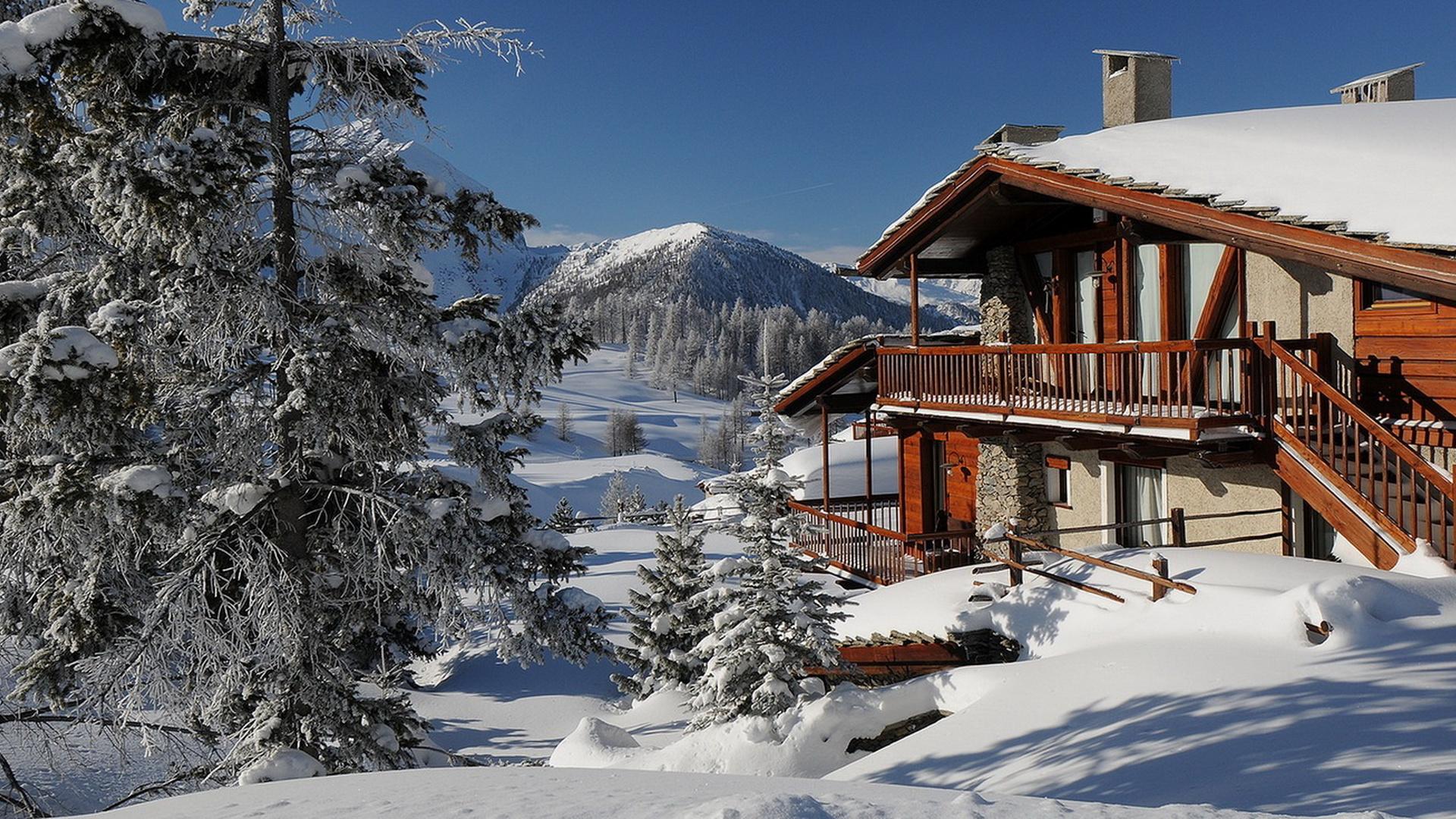 зимний пейзаж с виллой фото дагестана