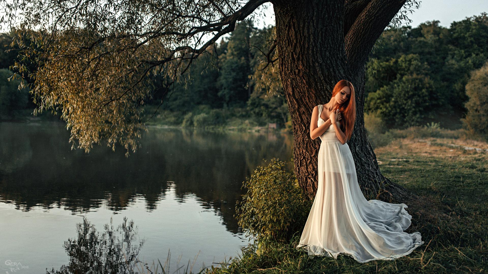 осень позы для фото возле озера весной итальянец апулии