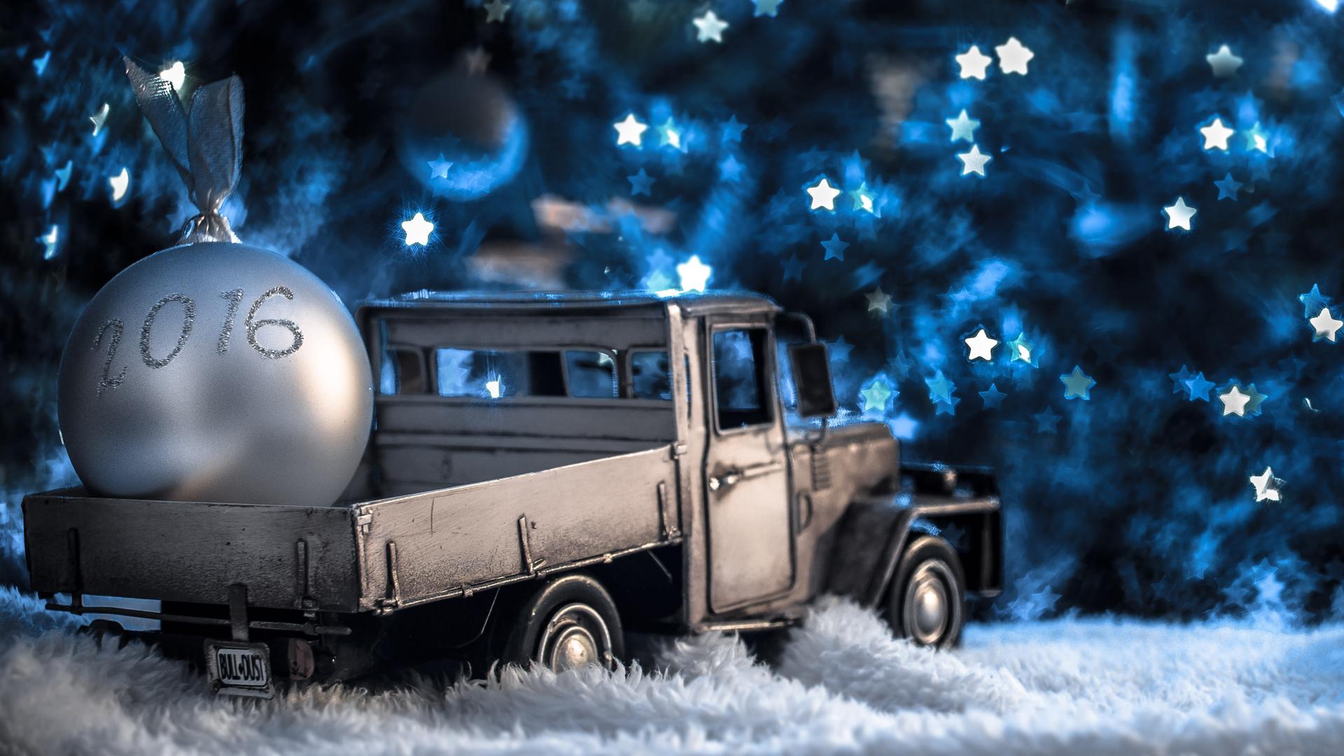 Авто открытки с новым годом