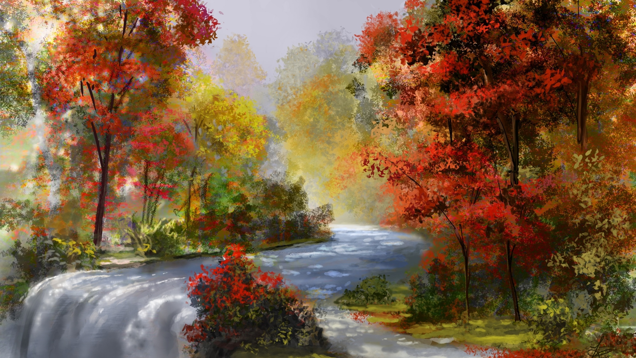 Рисунки осени красивые природа