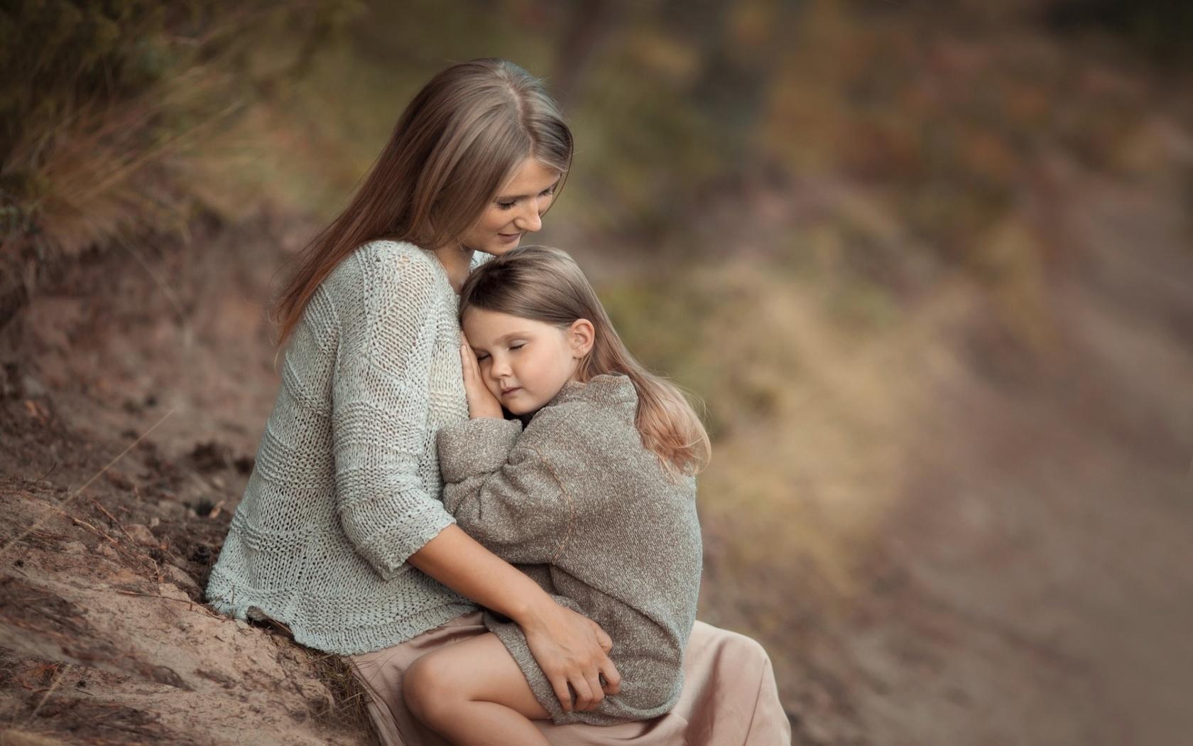 Для пап, трогательные картинки про маму и ребенка