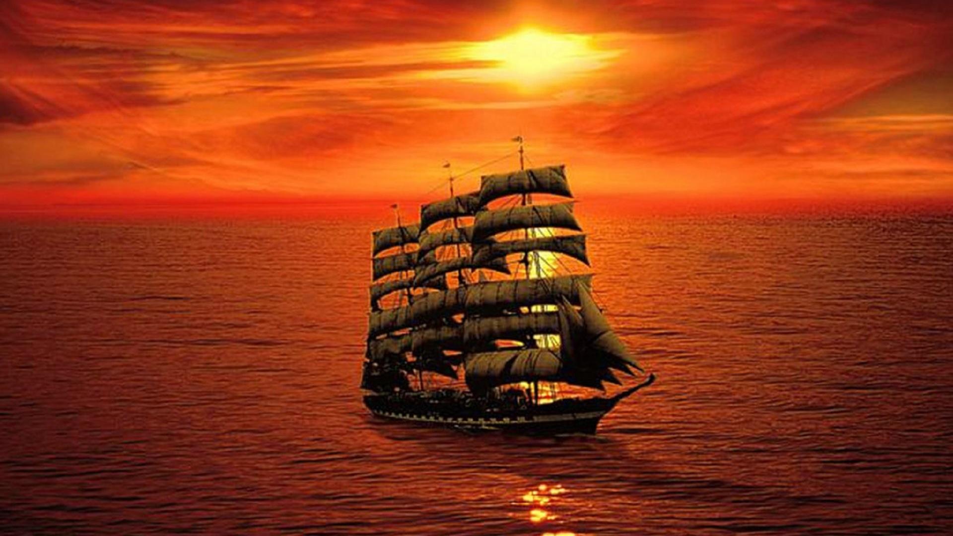картинка корабль уходит в море на закате наливные полы были