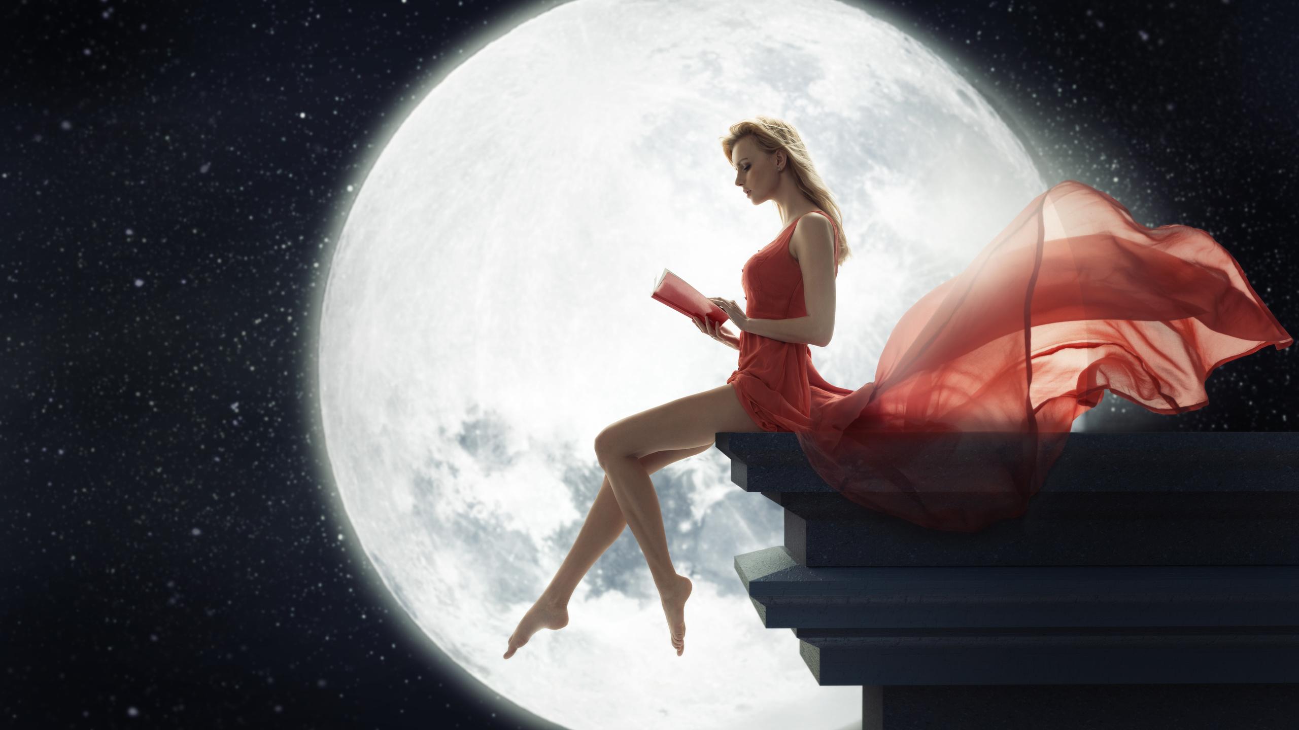 Класс картинки, картинки с луной и девушкой