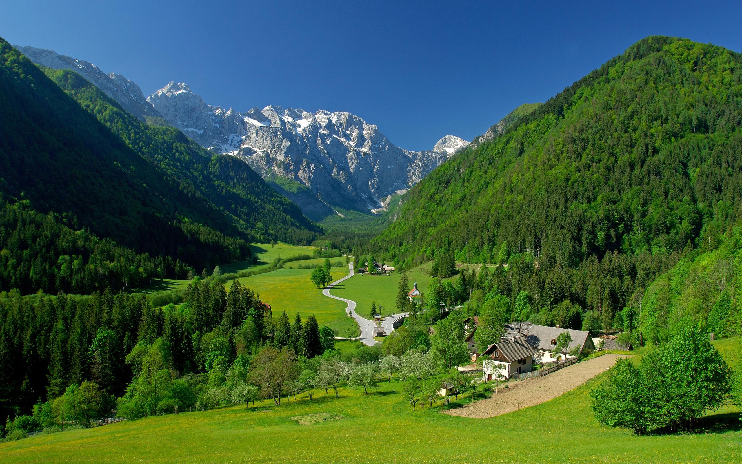 обои на рабочий стол альпийская деревня