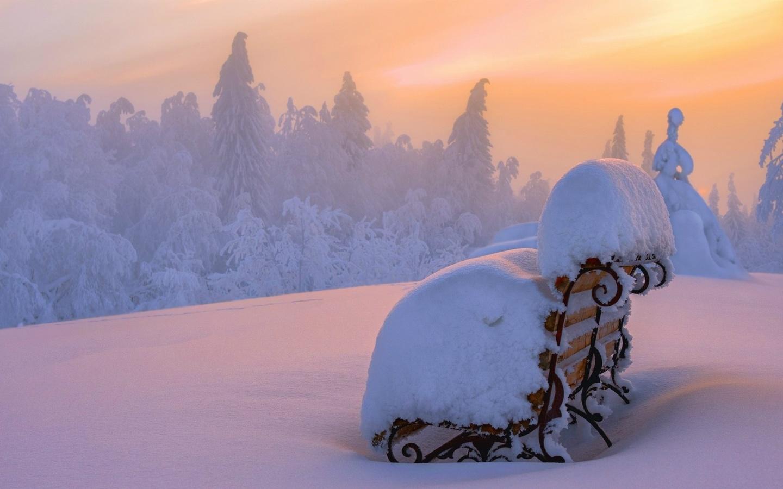 картинки снежная волшебная зима контур позволяет
