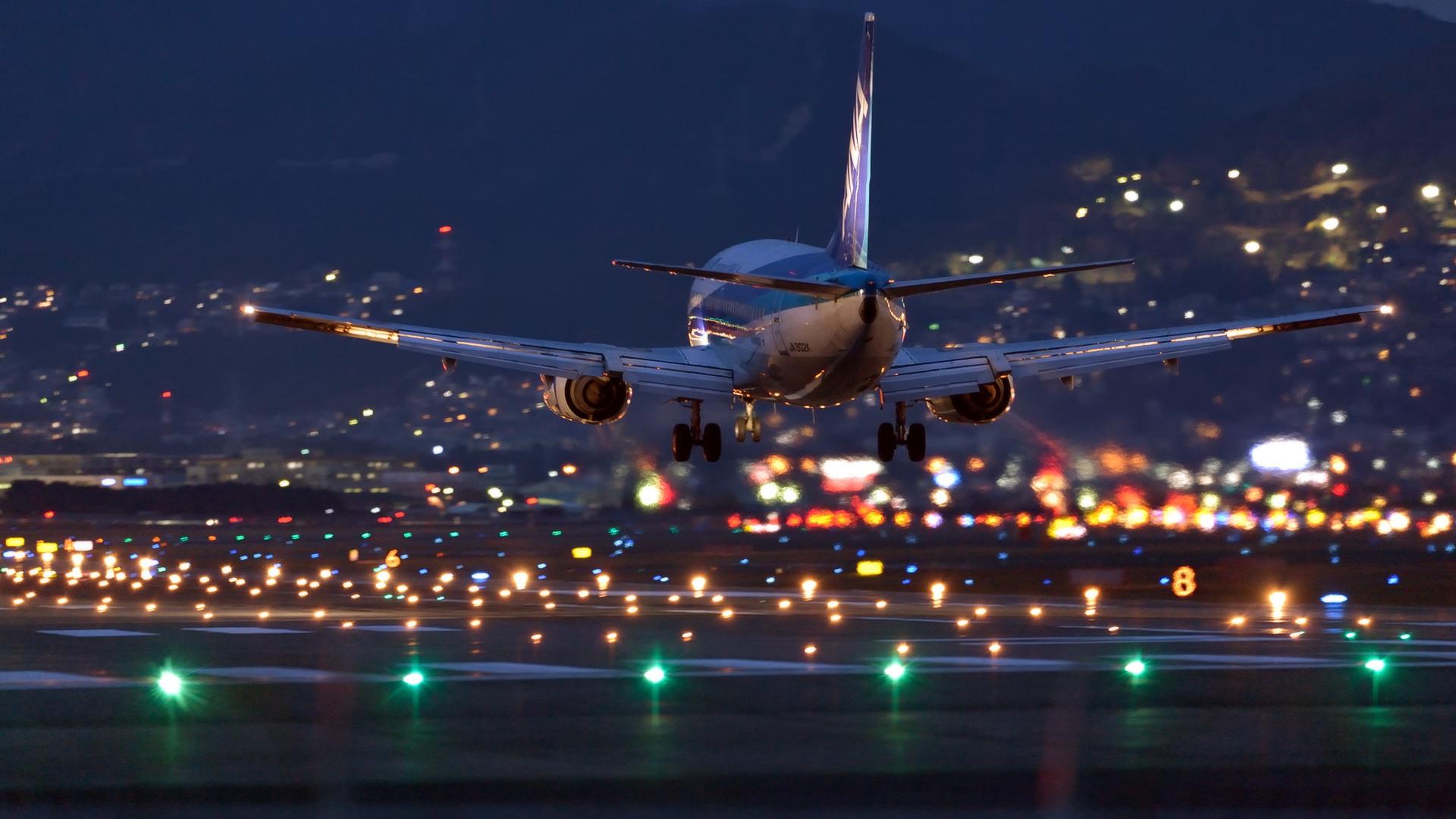 картинки самолет ночь потренироваться