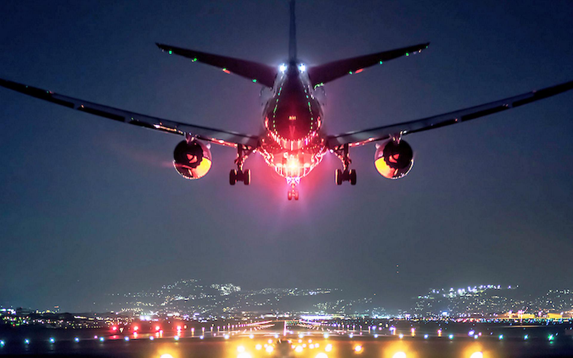 картинки самолет ночь свою