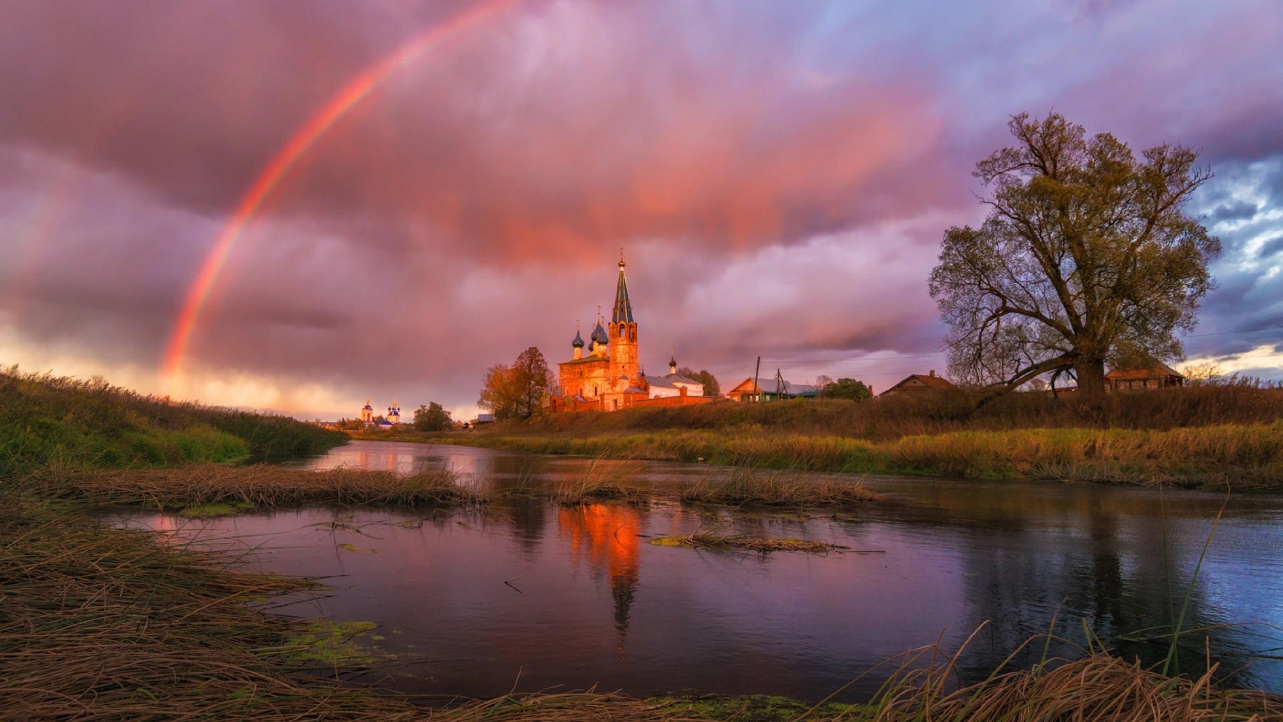 красивые картинки с церквями и радугой профессиональный
