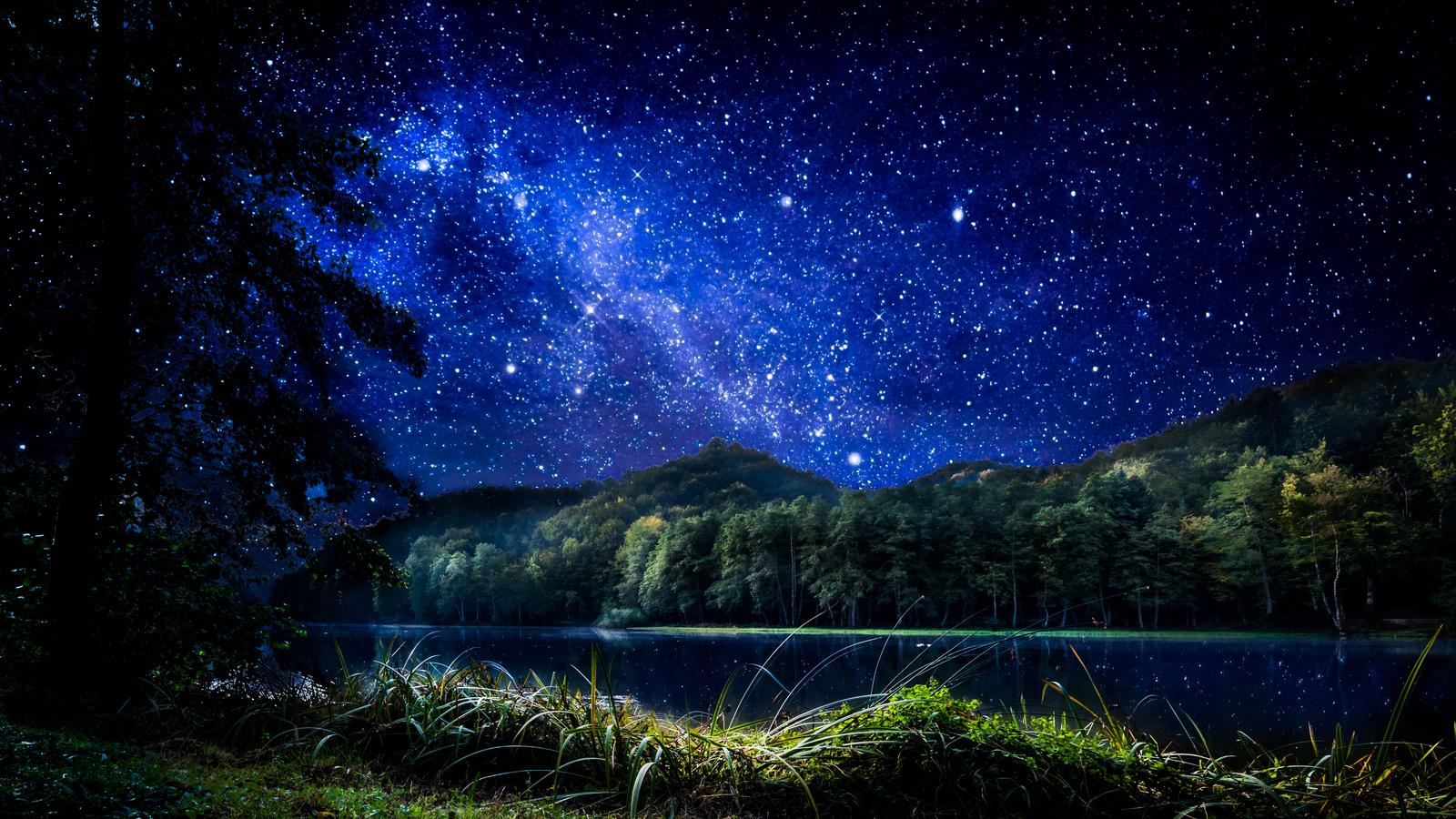 Крестом картинки, звездная ночь картинки