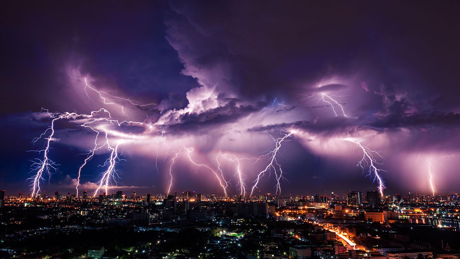 Картинки города молния