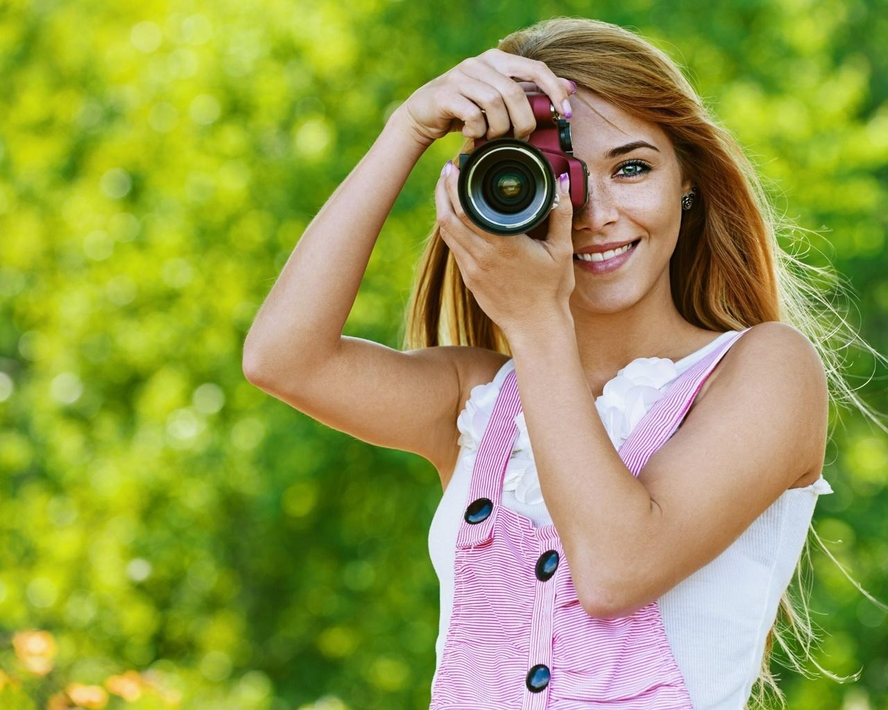 Девушка фотограф картинки