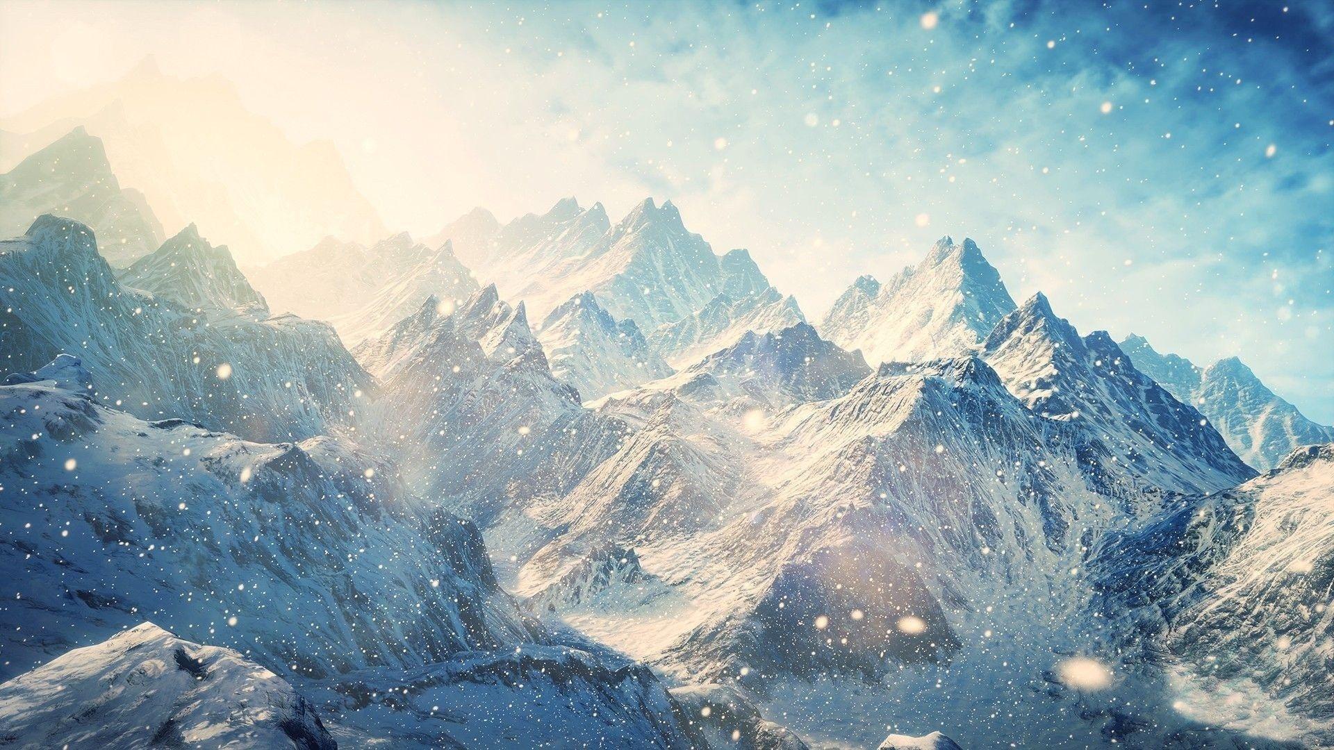Картинка горы фон
