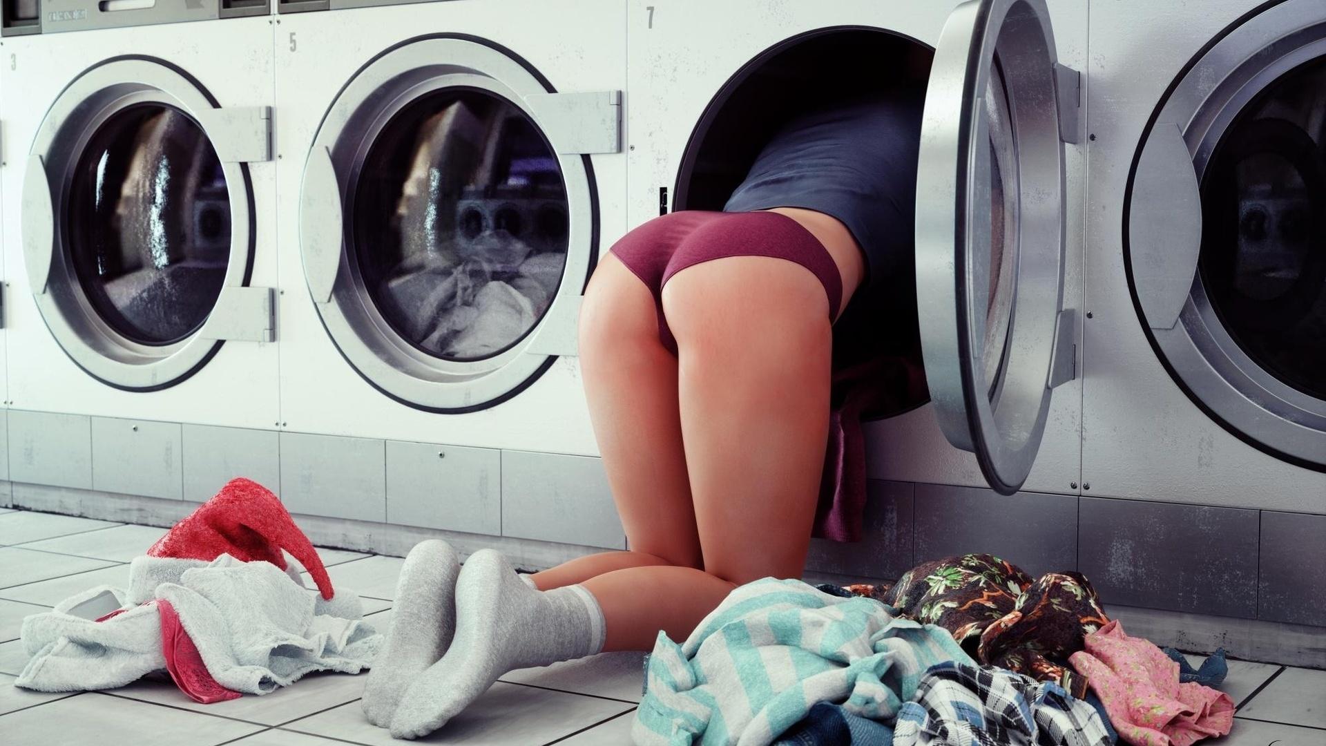 Ryan uses the washing machine