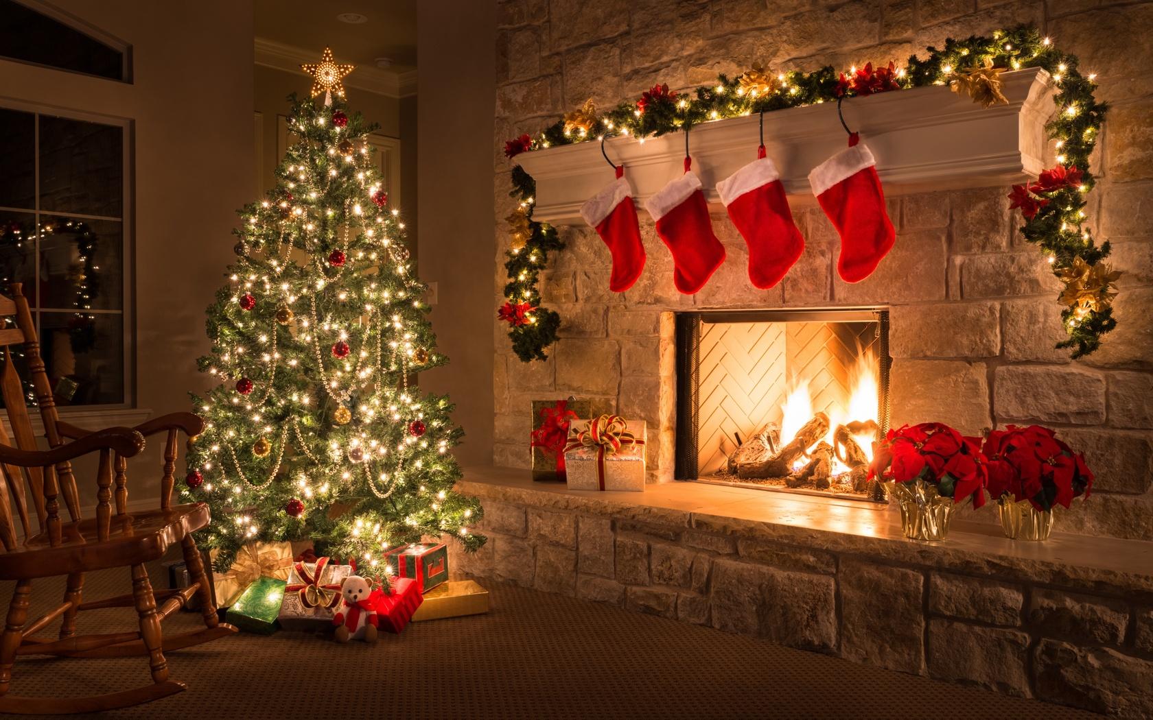 Пожелания, картинки с елкой новогодней дома