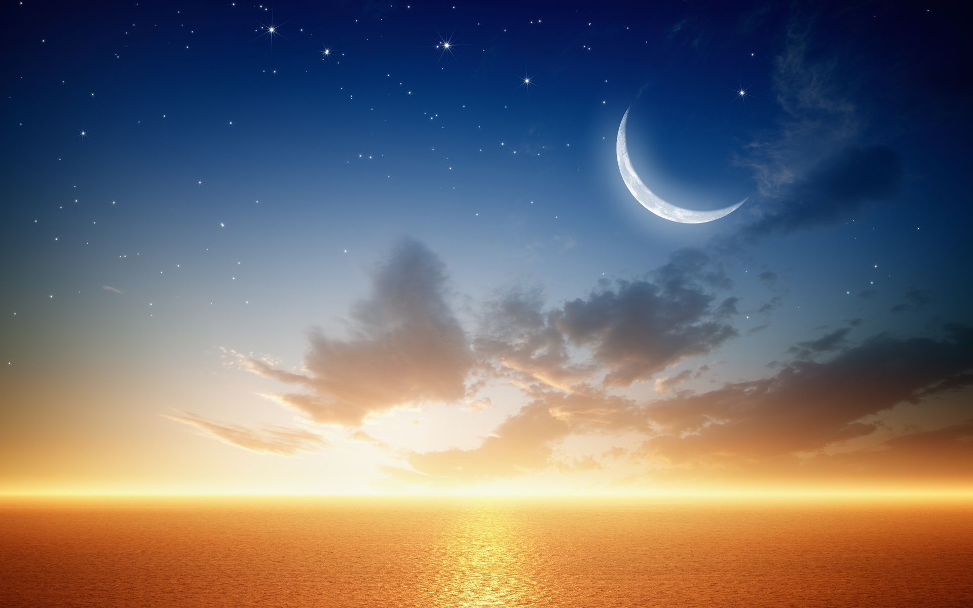 Картинки рассвет на луне