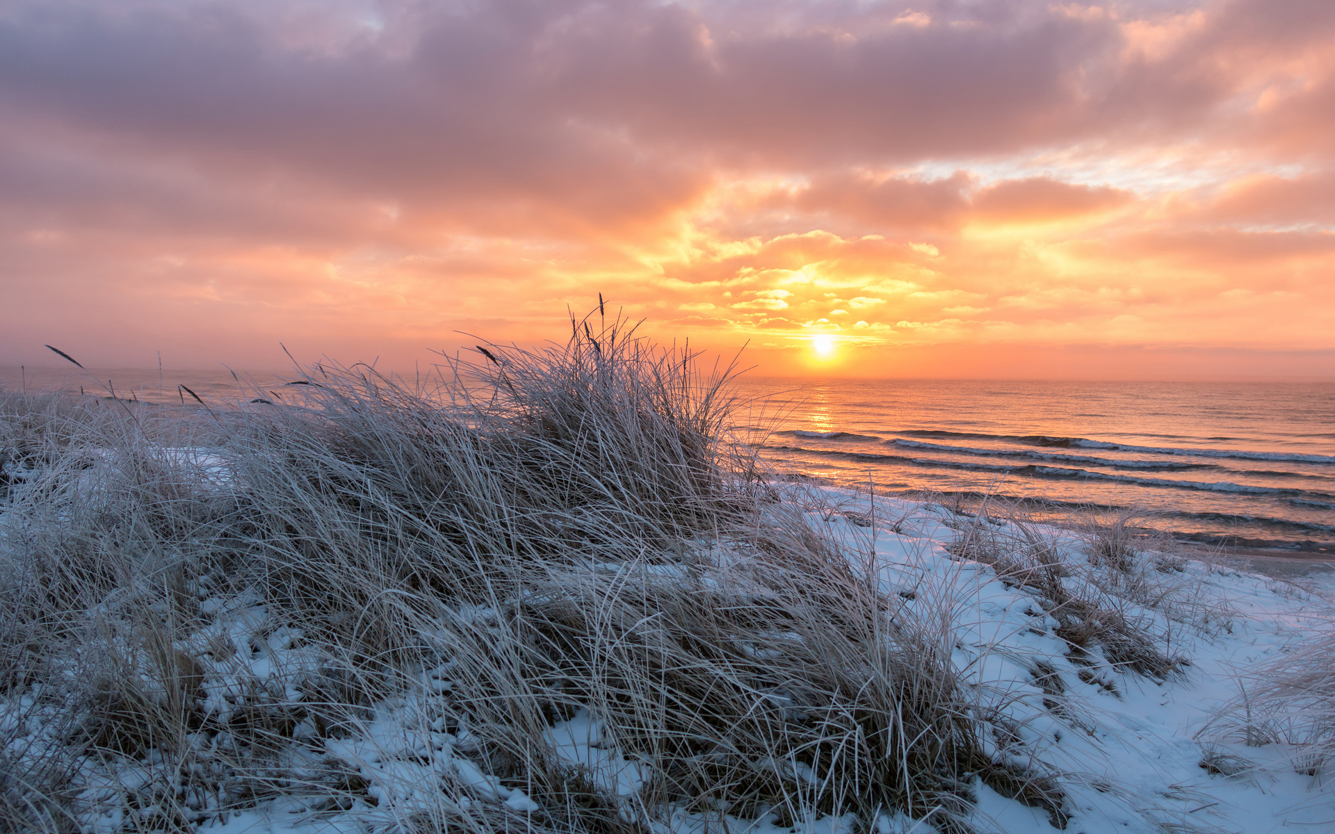 картинки берег моря зимой
