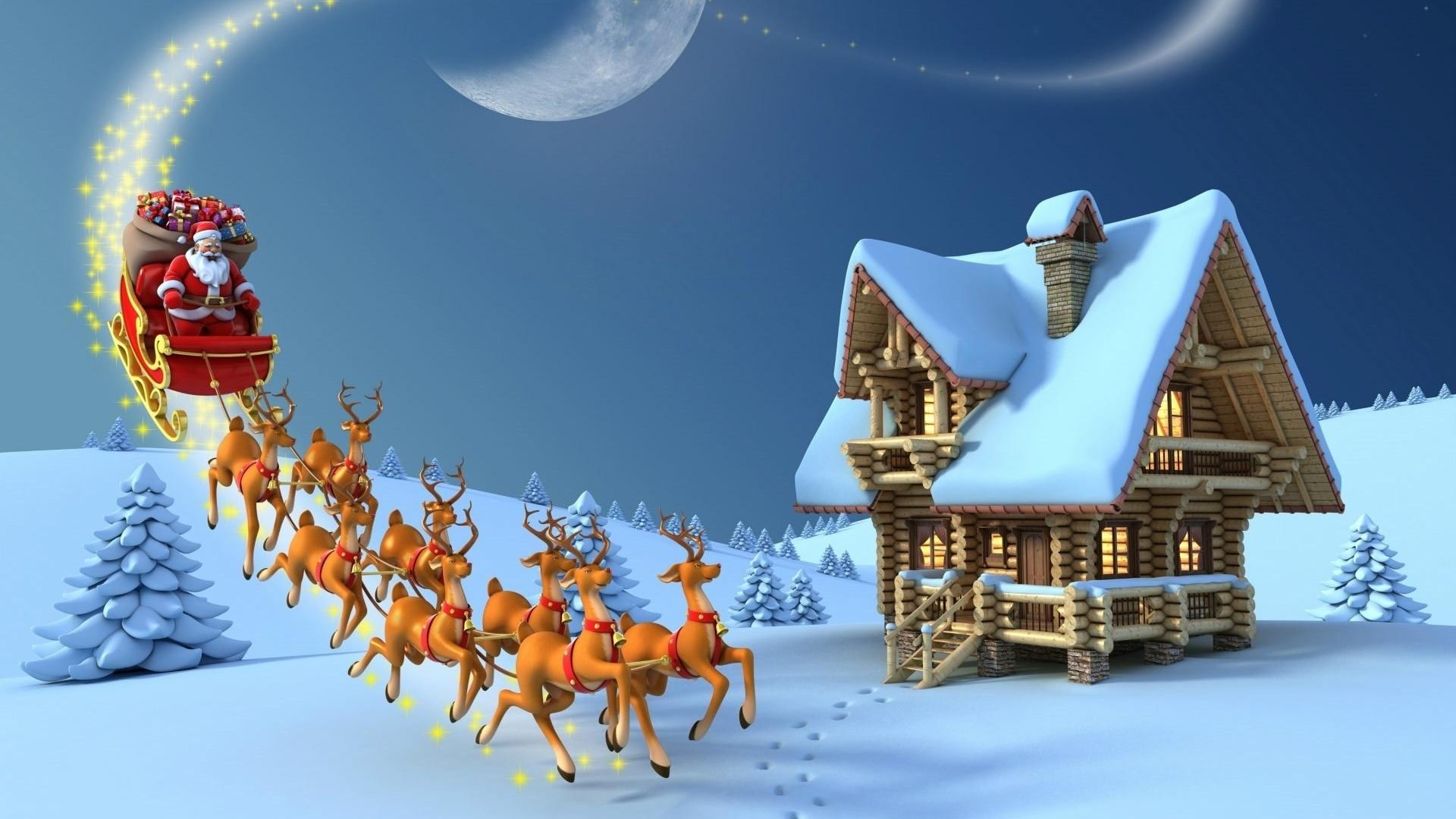 Красивая сказочная картинка с новым годом без белья