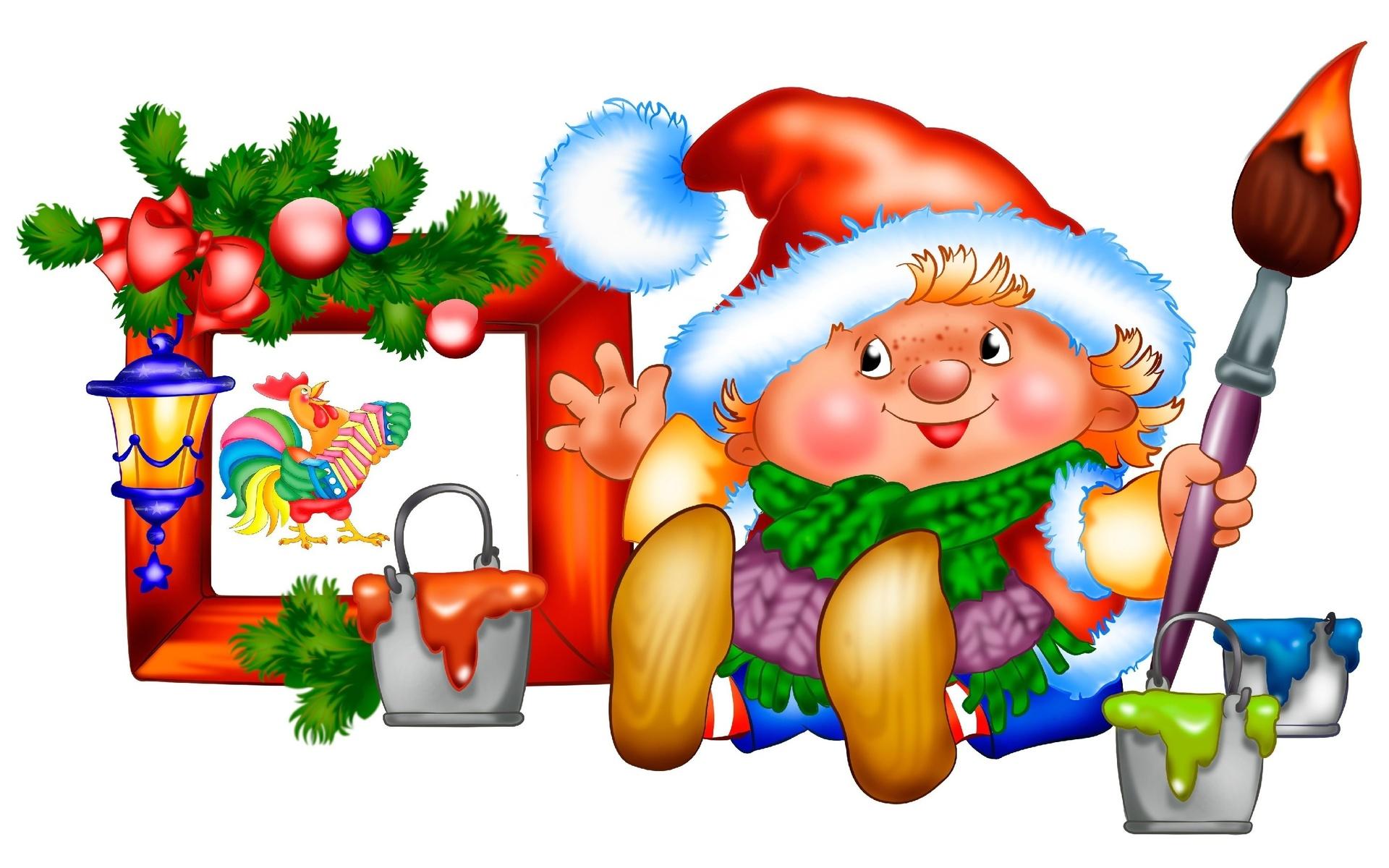 Картинки новогодние на прозрачном фоне для детей