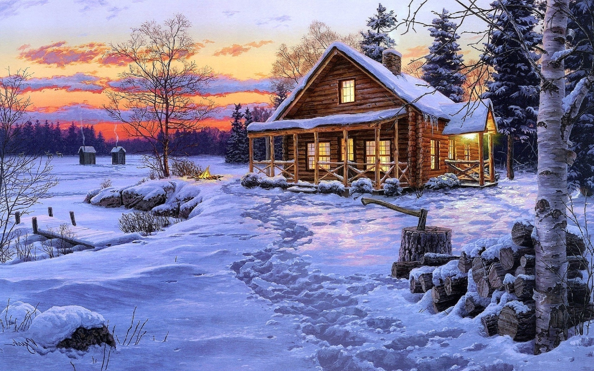 Красивые картинки по теме зимние