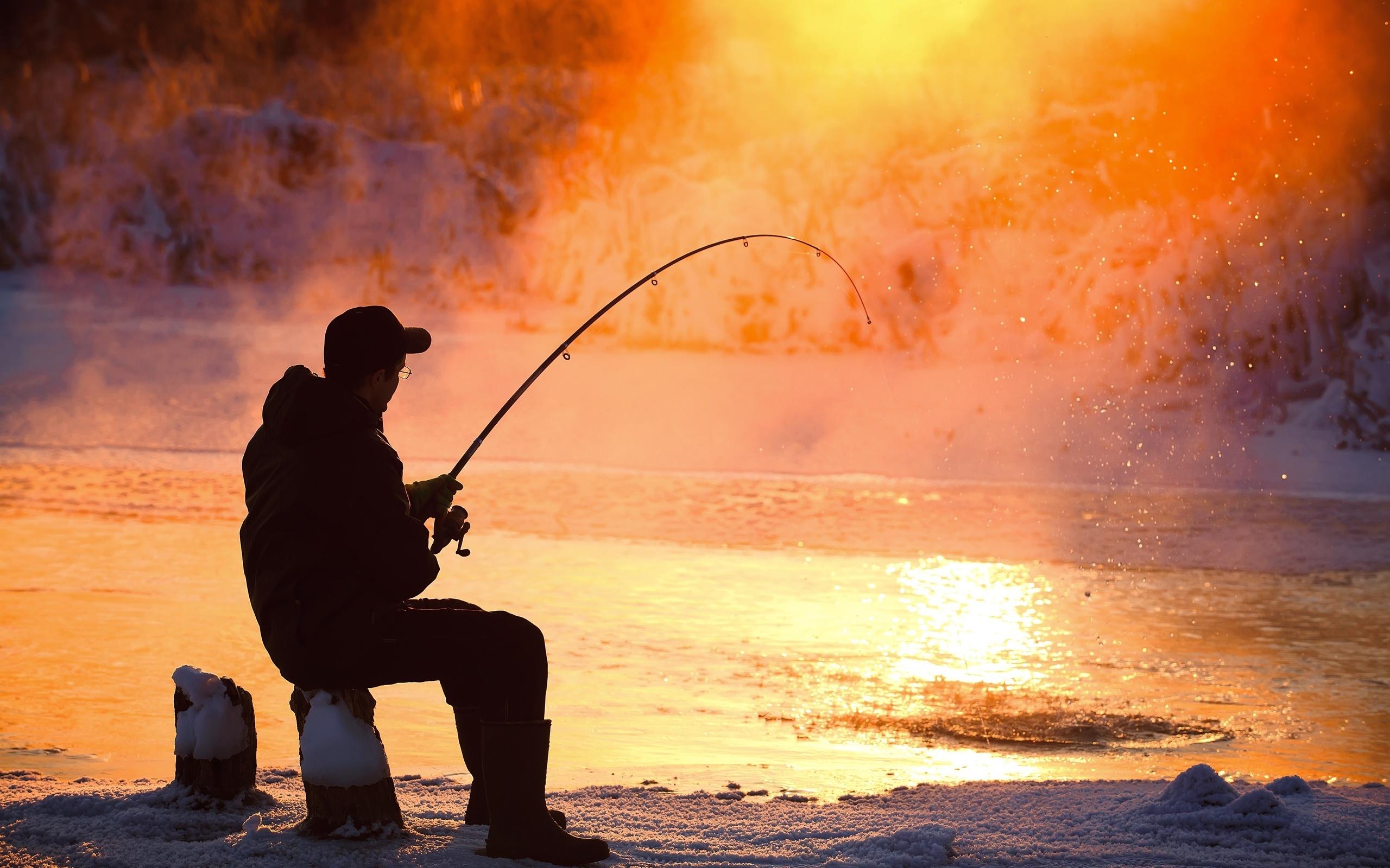 Фоновая картинка рыбалка