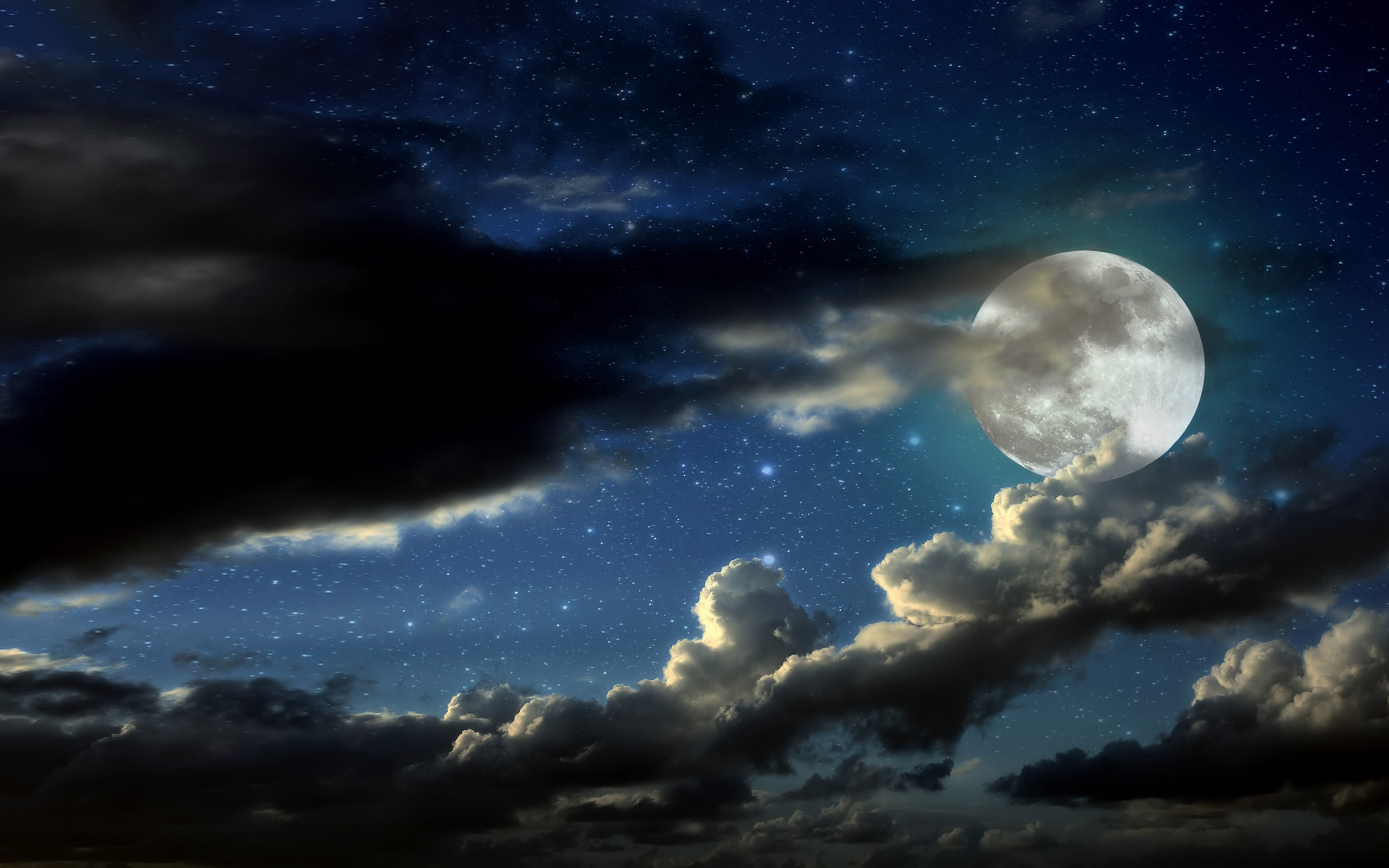 конечным картинки луна в облаках отличное место