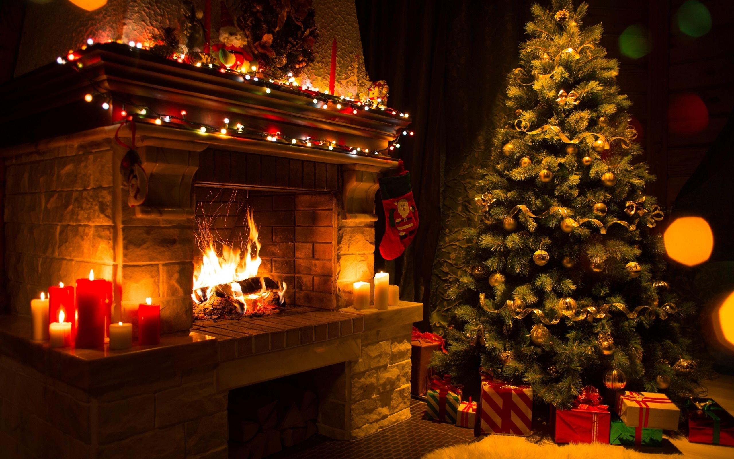 картинки зима камин огни