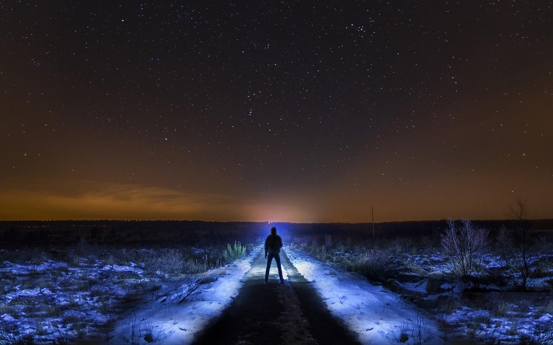 картинки парень ночь дорога растение, которое радует