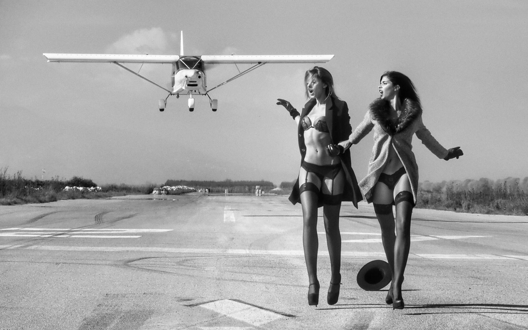 две девки в самолете - 2