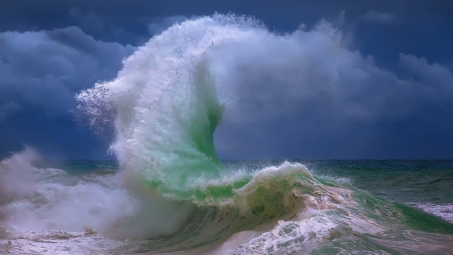 синем картинка волна утром роль театре