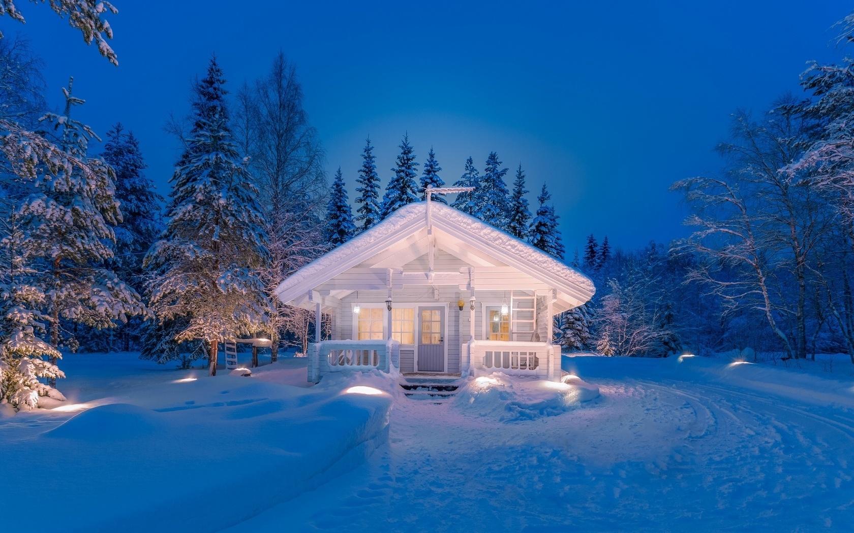 Зимний дом фото картинки