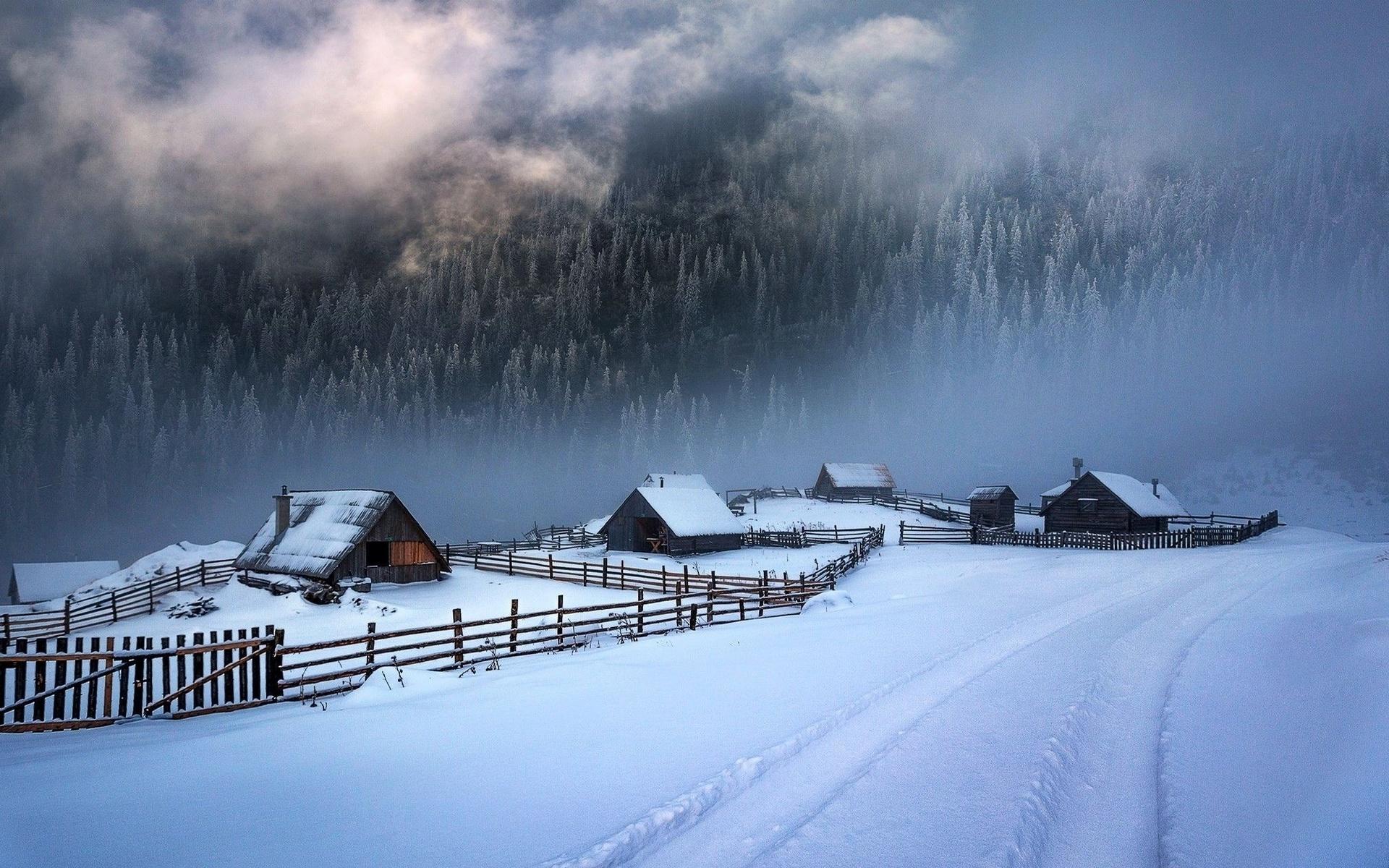 оригинальности, декоративная зима в деревне обои и картинки моими дочерьми очень