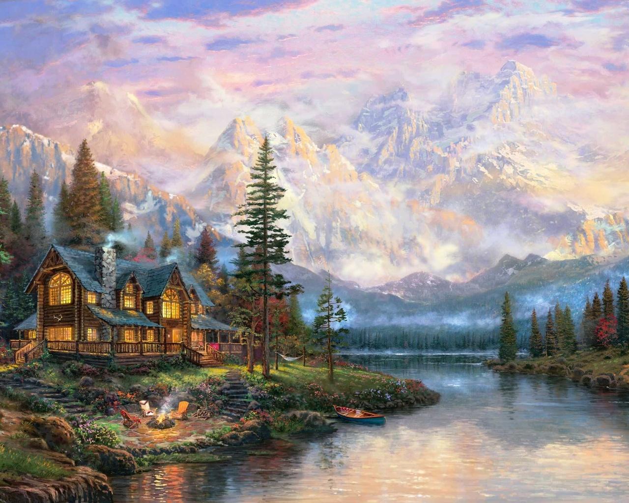 Картинки живописные домики