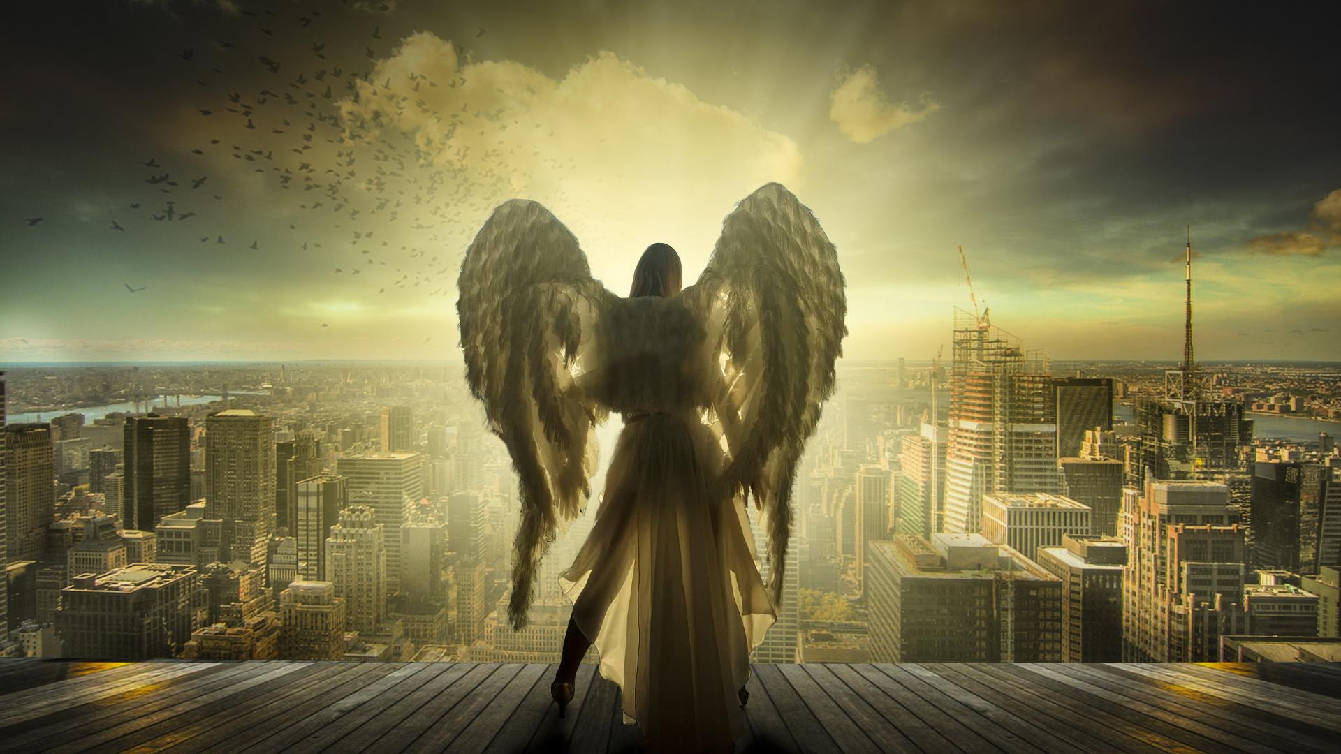 Ангелы в городе картинки