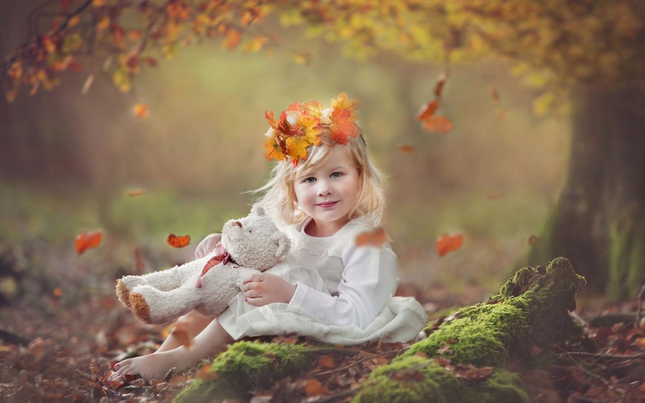 Картинки дети на природе осенью, картинки днем