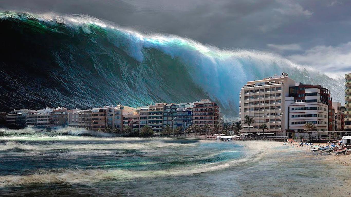 своей цунами картинки волна на город для жарки