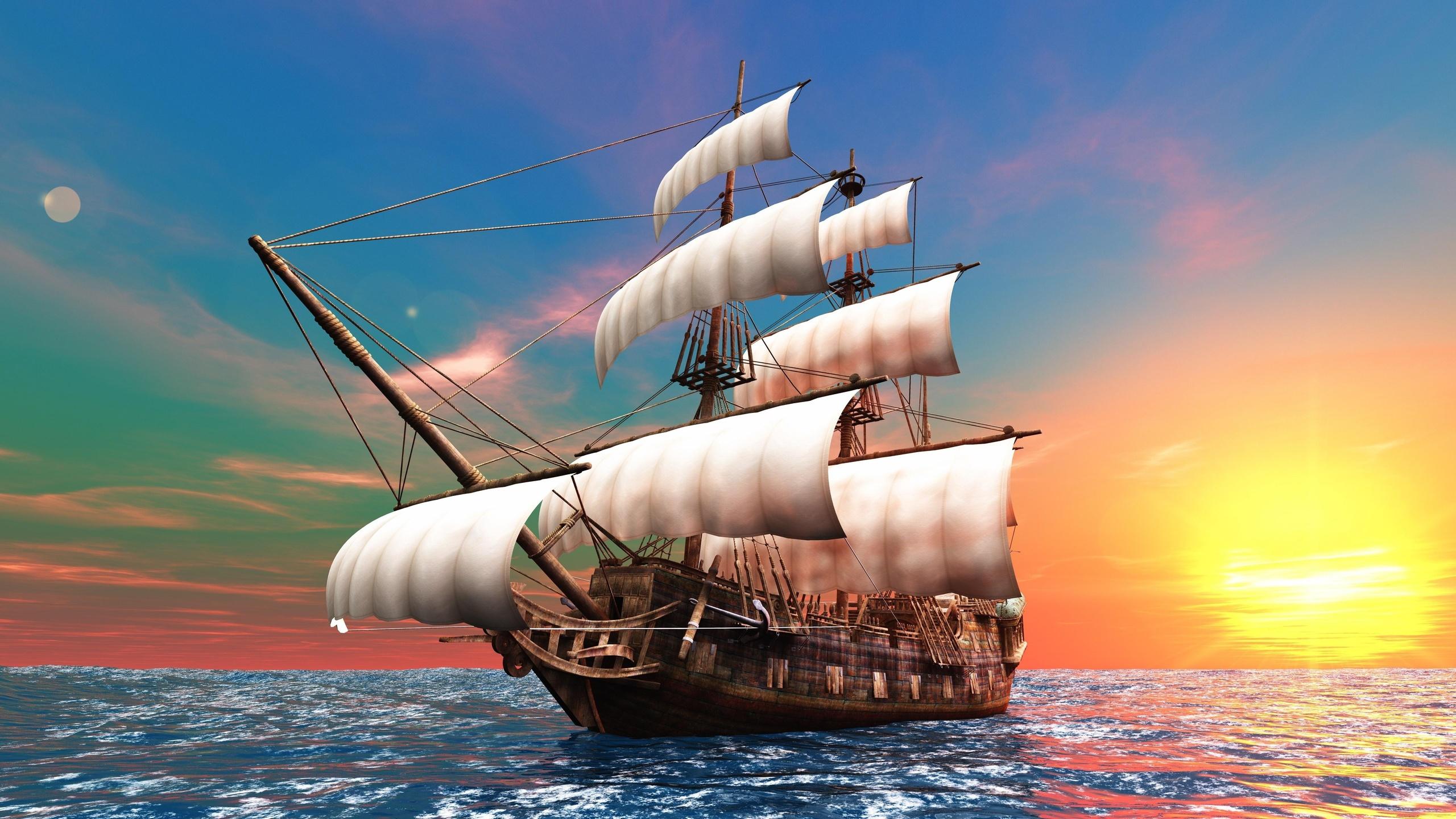 Картинка море корабль