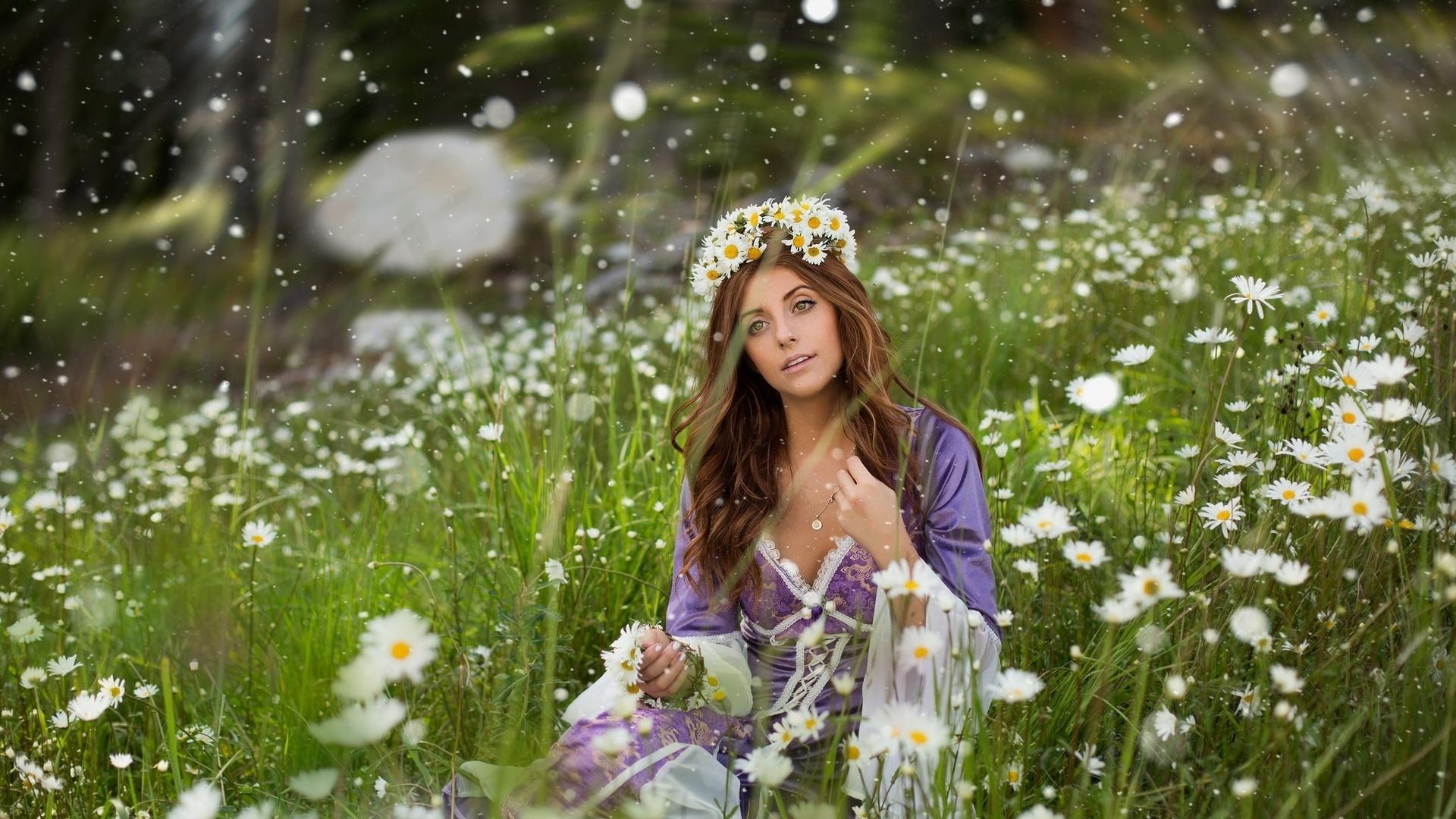 Картинки красивые природа и женщина